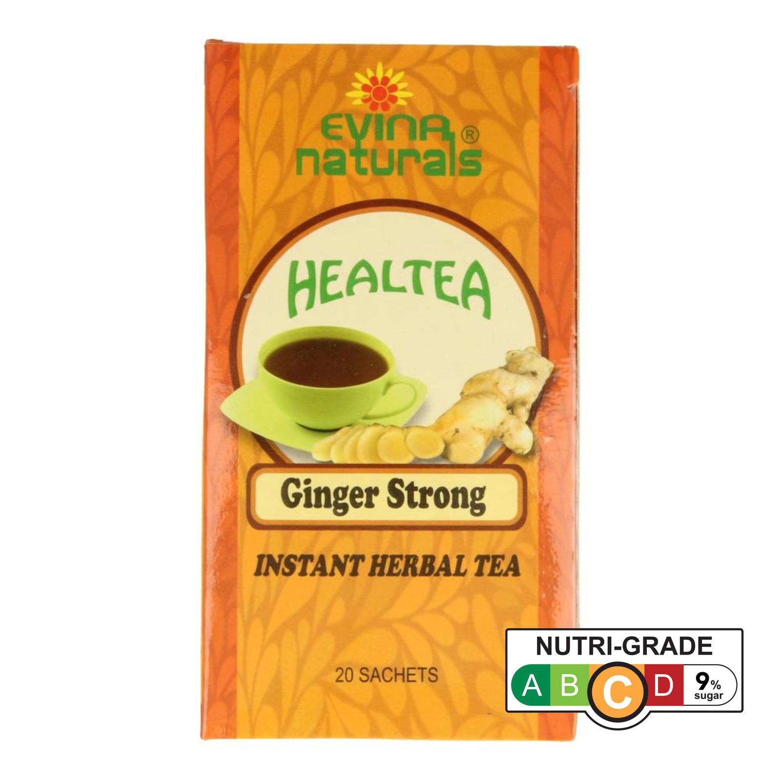 Evina Naturals Ginger Strong Herbal Tea 20 x 10g