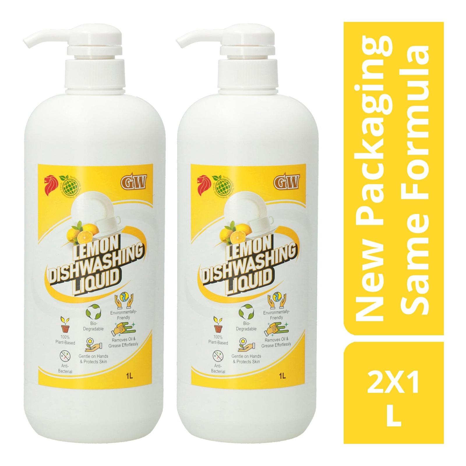 GW Anti-bacterial Dishwashing Liquid Pack - Lemon