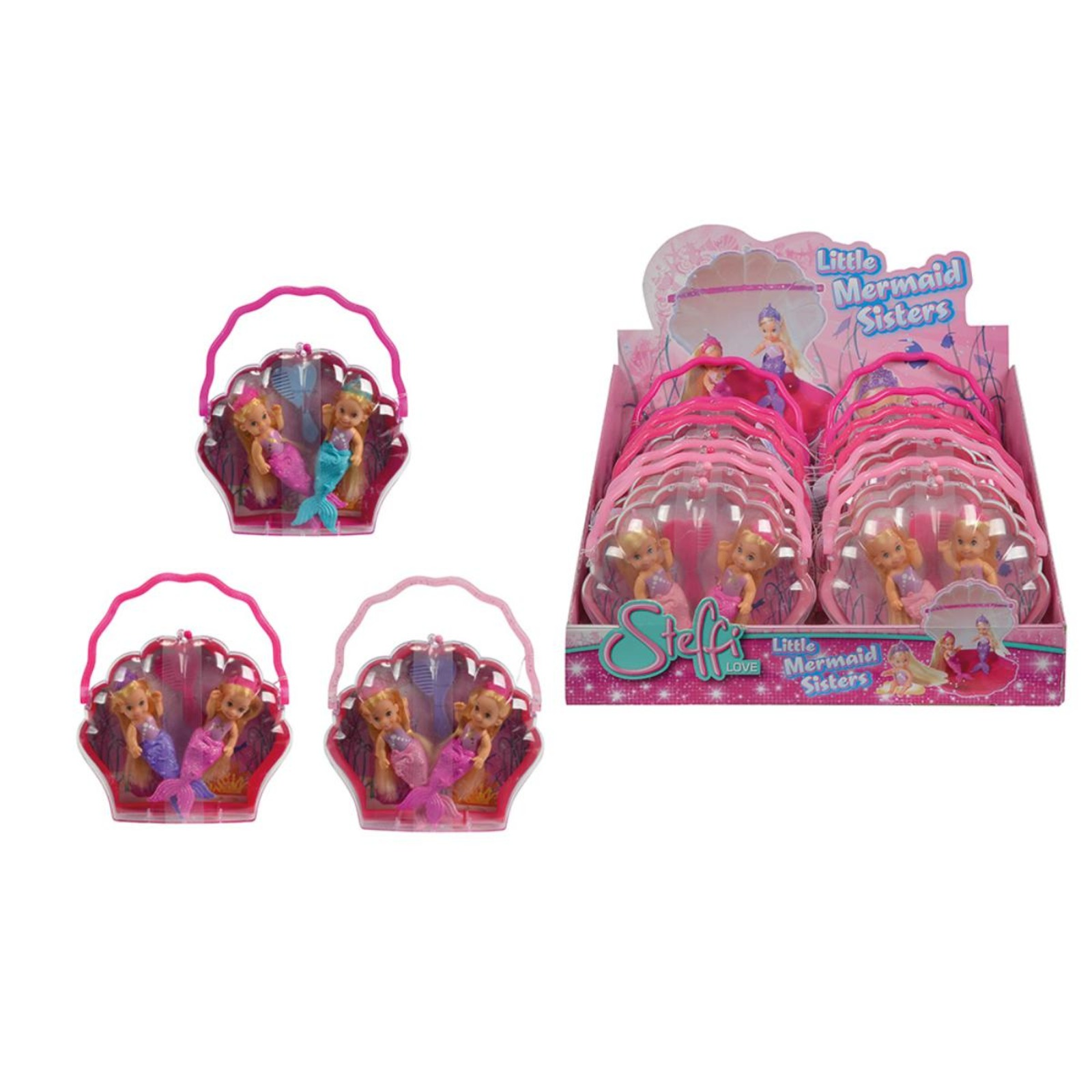 Simba Toys Evi LOVE Little Mermaid Sisters, 3-asst.