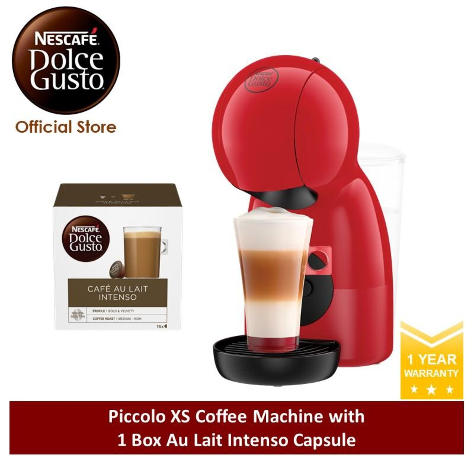 NESCAFE Dolce Gusto PiccoloXS w NDG Coffee Capsule(DR)