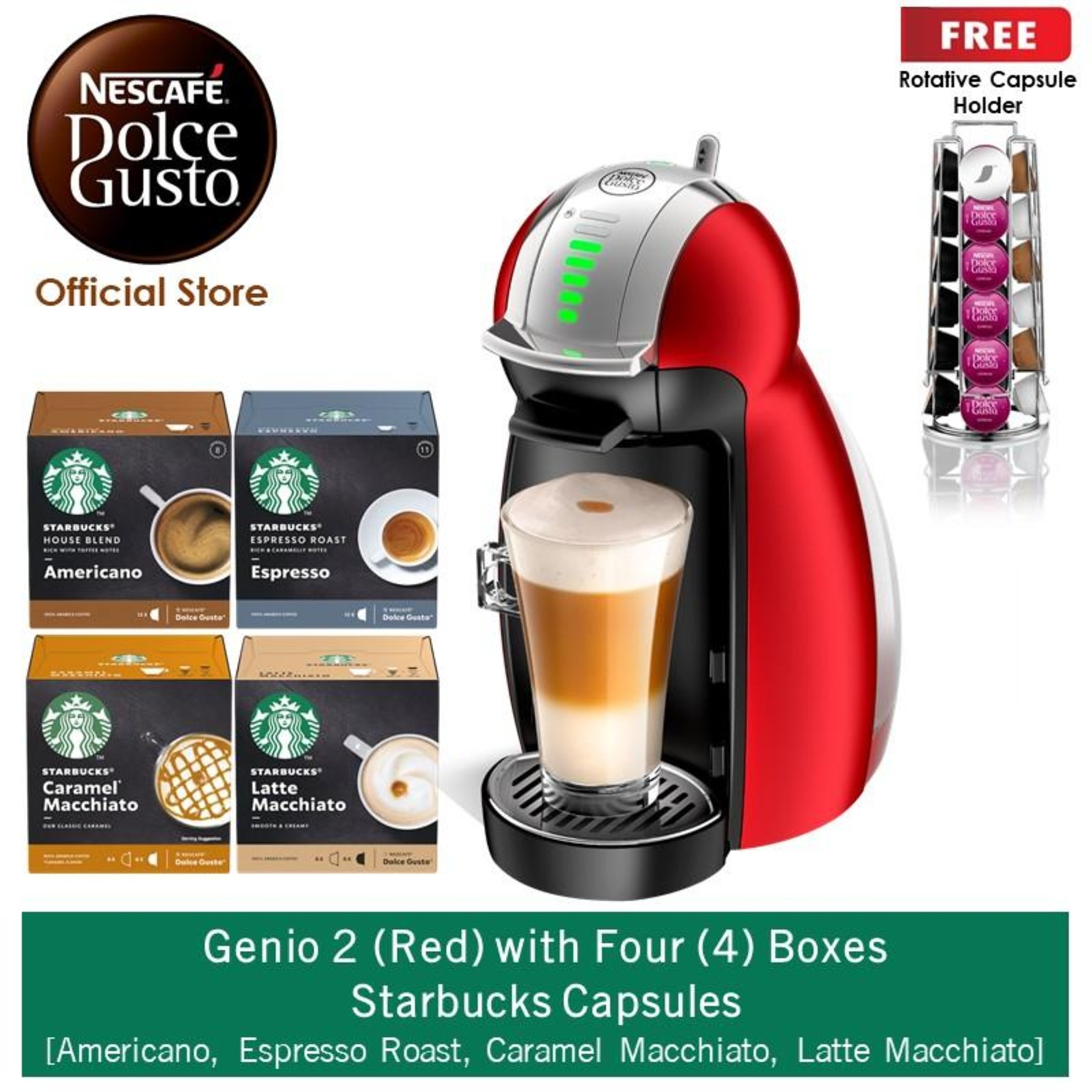 NESCAFE Dolce Gusto *GWP* Genio2 w 4 Starbucks Capsules(R)