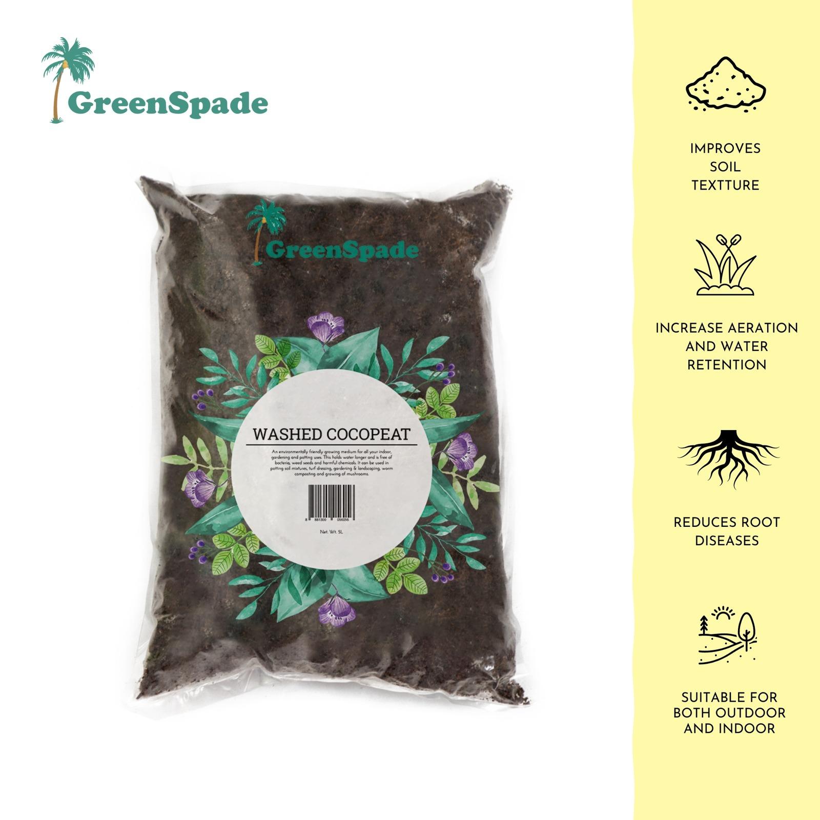 GreenSpade Washed Cocopeat - Low EC