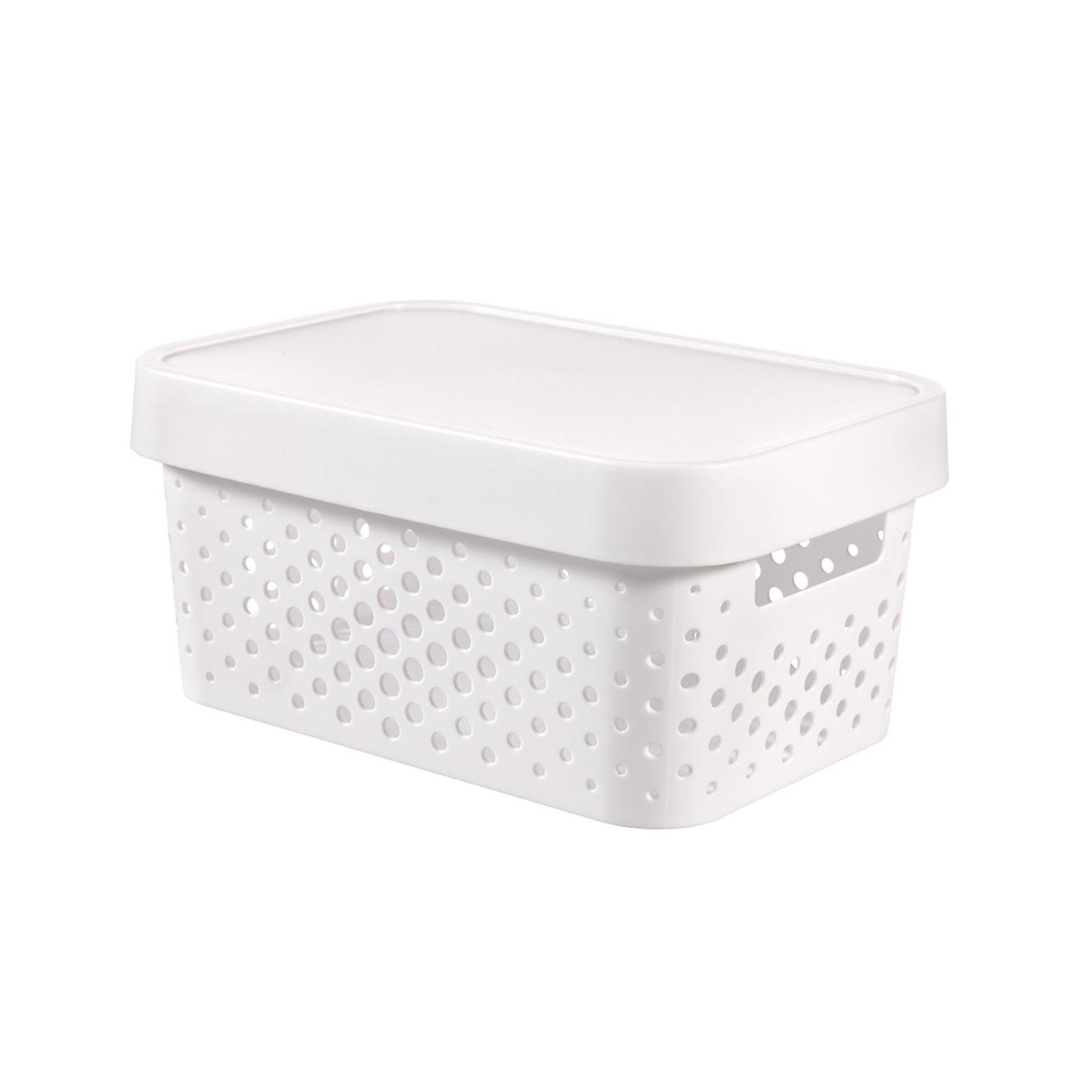 CURVER Infinity Box Dots 4.5L + Lid White