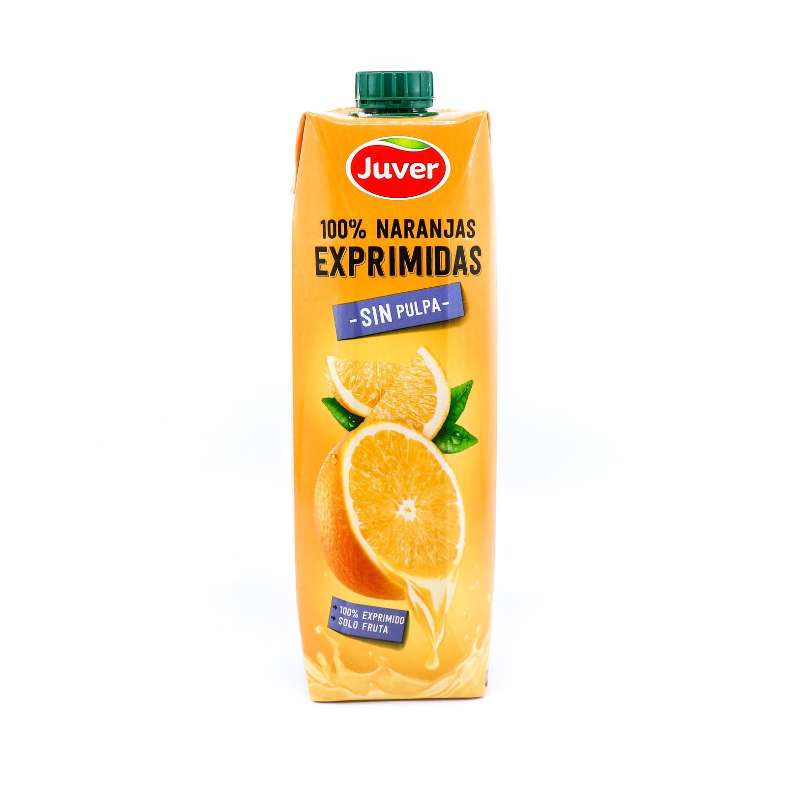 Juver 100% NFC Orange Juice Without Pulp