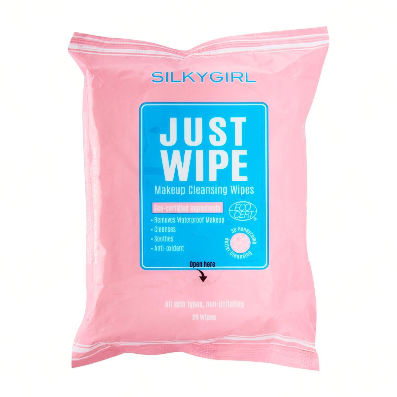SILKYGIRL JUST WIPE MAKEUP CLEANSING WIPES (20 wipes)