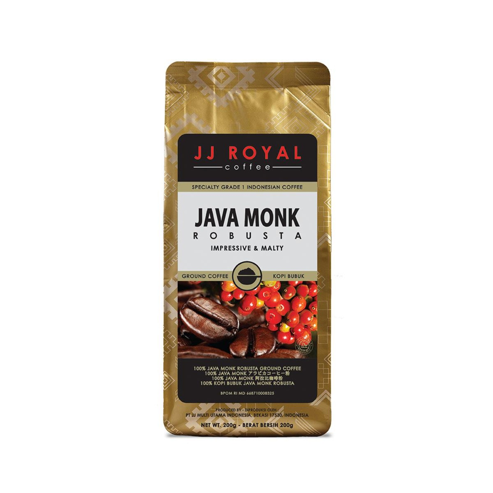 JJ Royal Coffee Java Monk 100% Robusta (Bean)