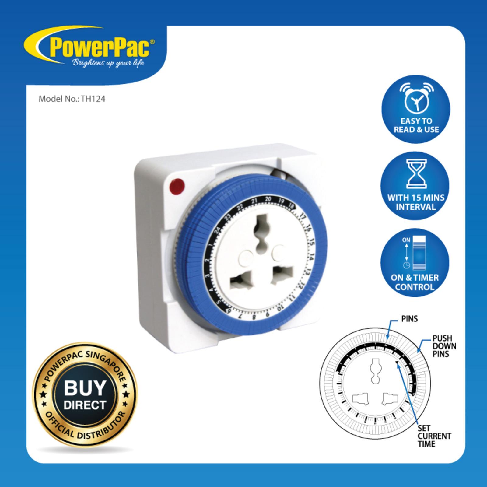 PowerPac (TH124) 24Hrs Timer Plug