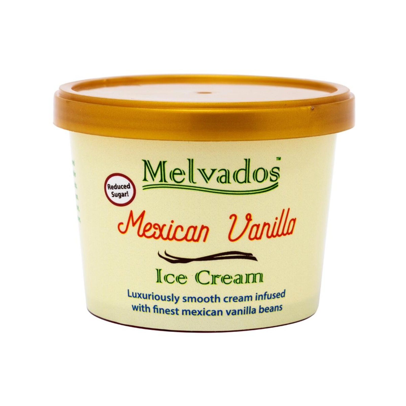 MELVADOS (Reduced Sugar) Mexican Vanilla Ice Cream