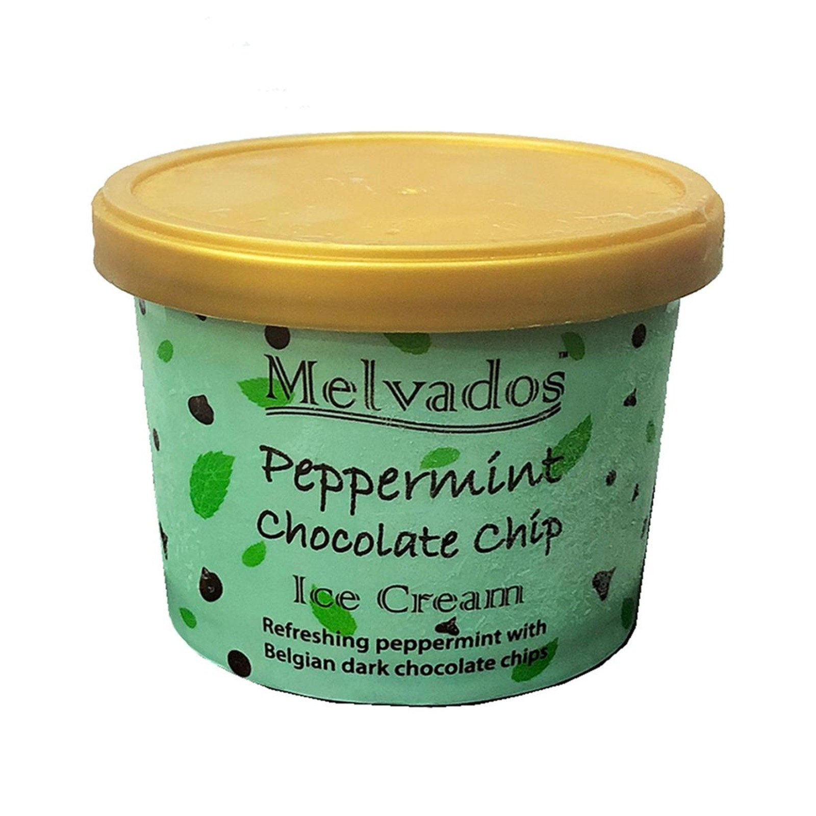MELVADOS Peppermint Chocolate Chip Ice Cream