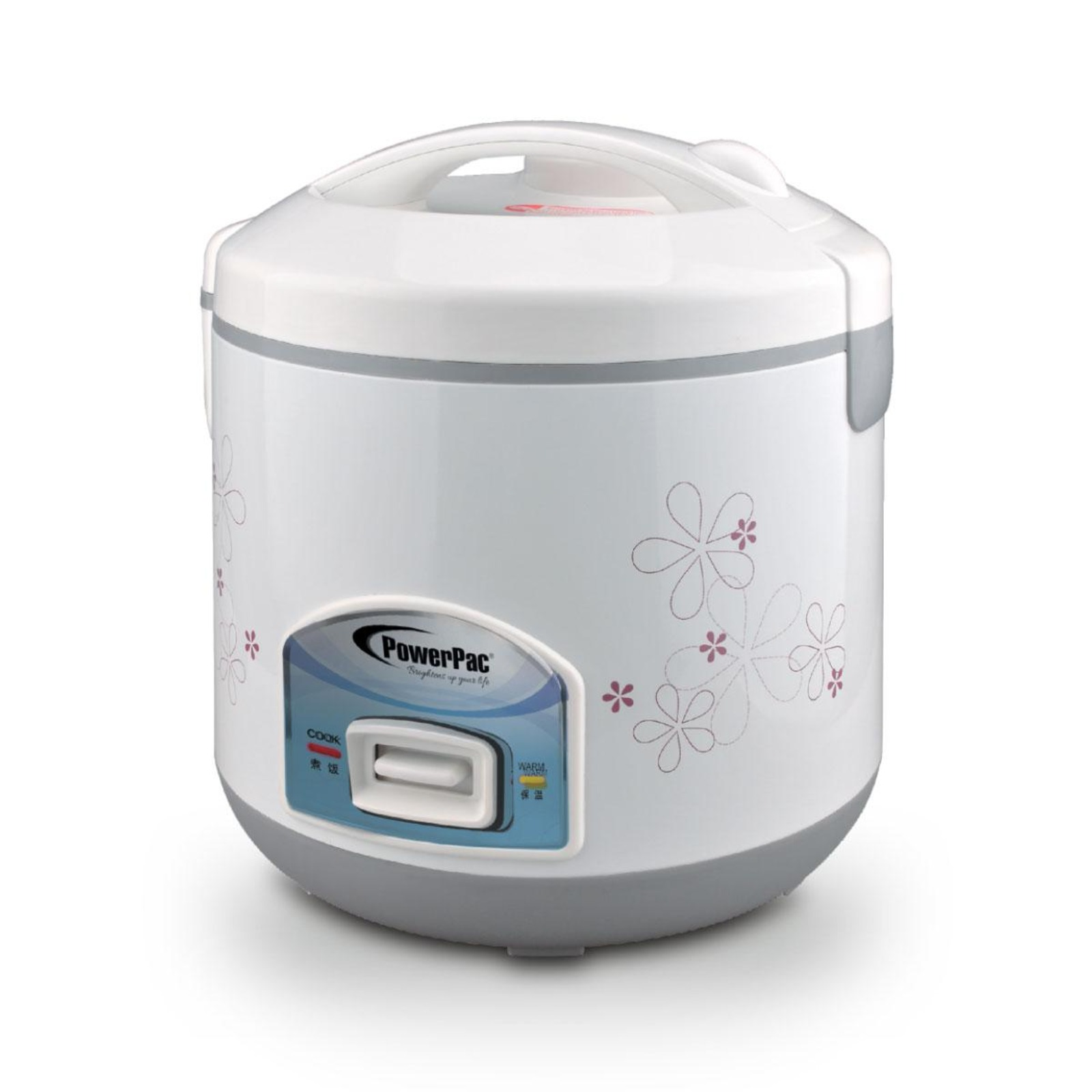 PowerPac 1.2L Rice Cooker With Steamer - PPRC12