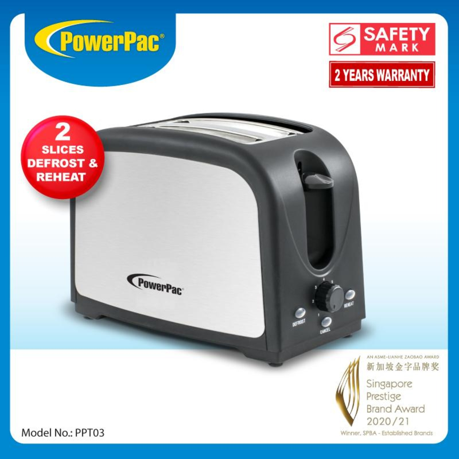 PowerPac (PPT03) Bread Toaster