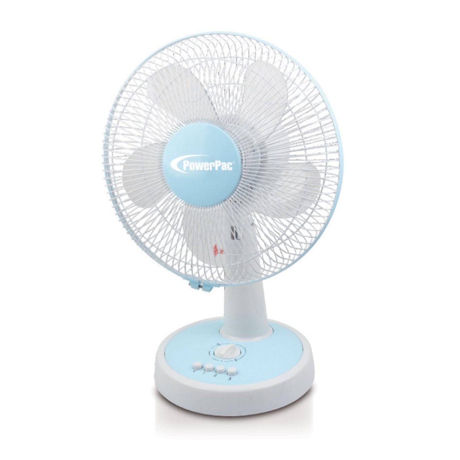 PowerPac 12 Inch Desk Fan With Oscillation And Timer - PPTF303