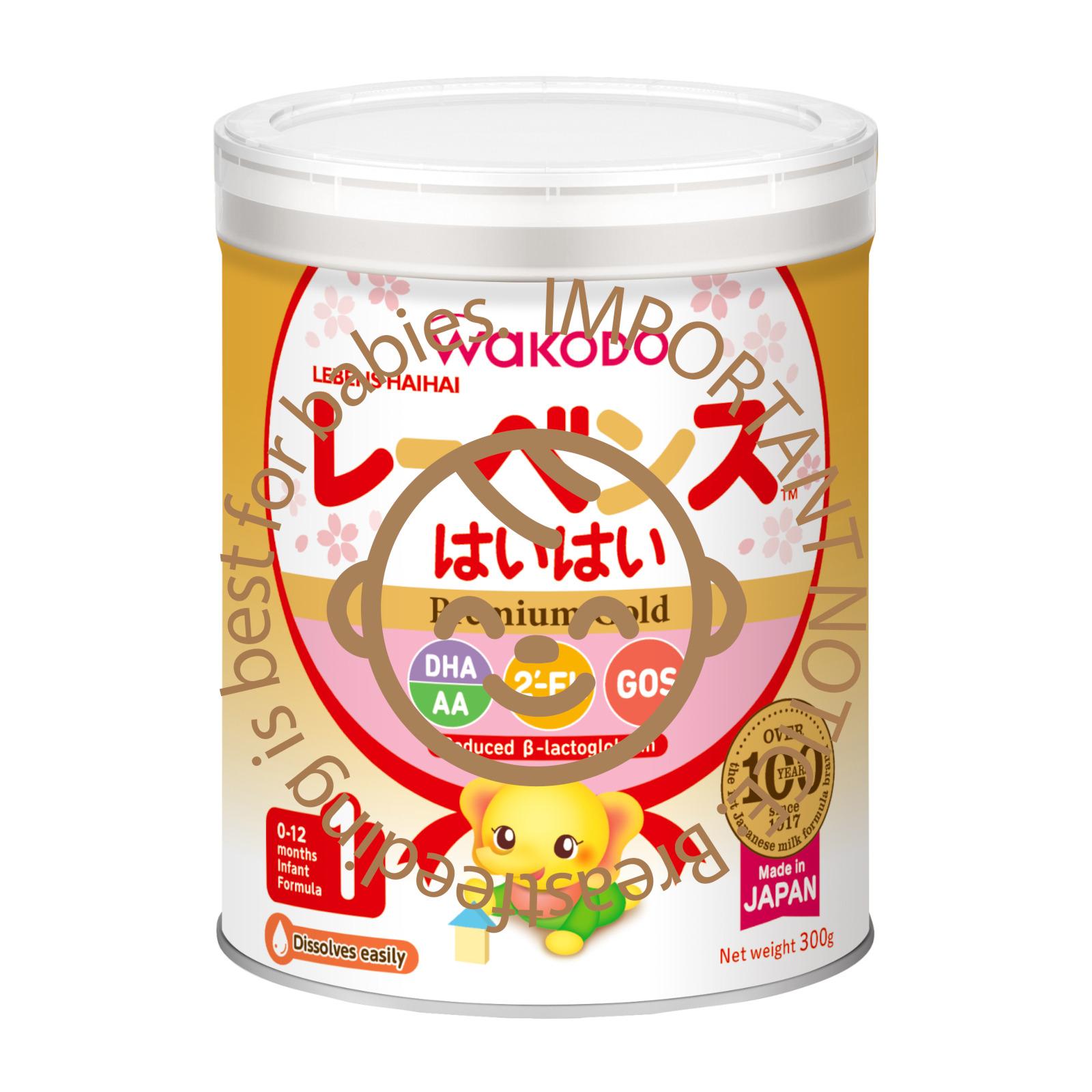 Wakodo Lebens 1 Premium Gold Infant Formula Stage 1 (0-12mth)