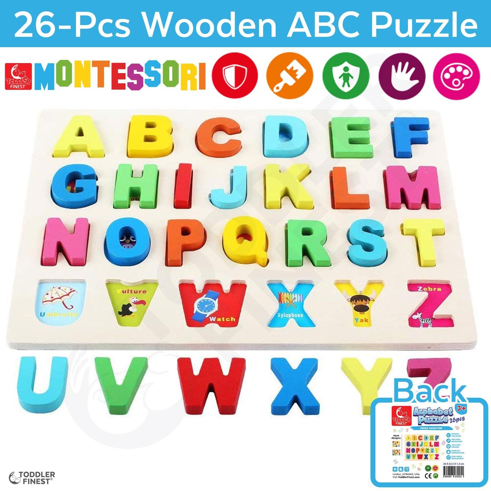 ToddlerFinest Wooden 26pcs ABC Alphabet Puzzle Baby Kids Toy