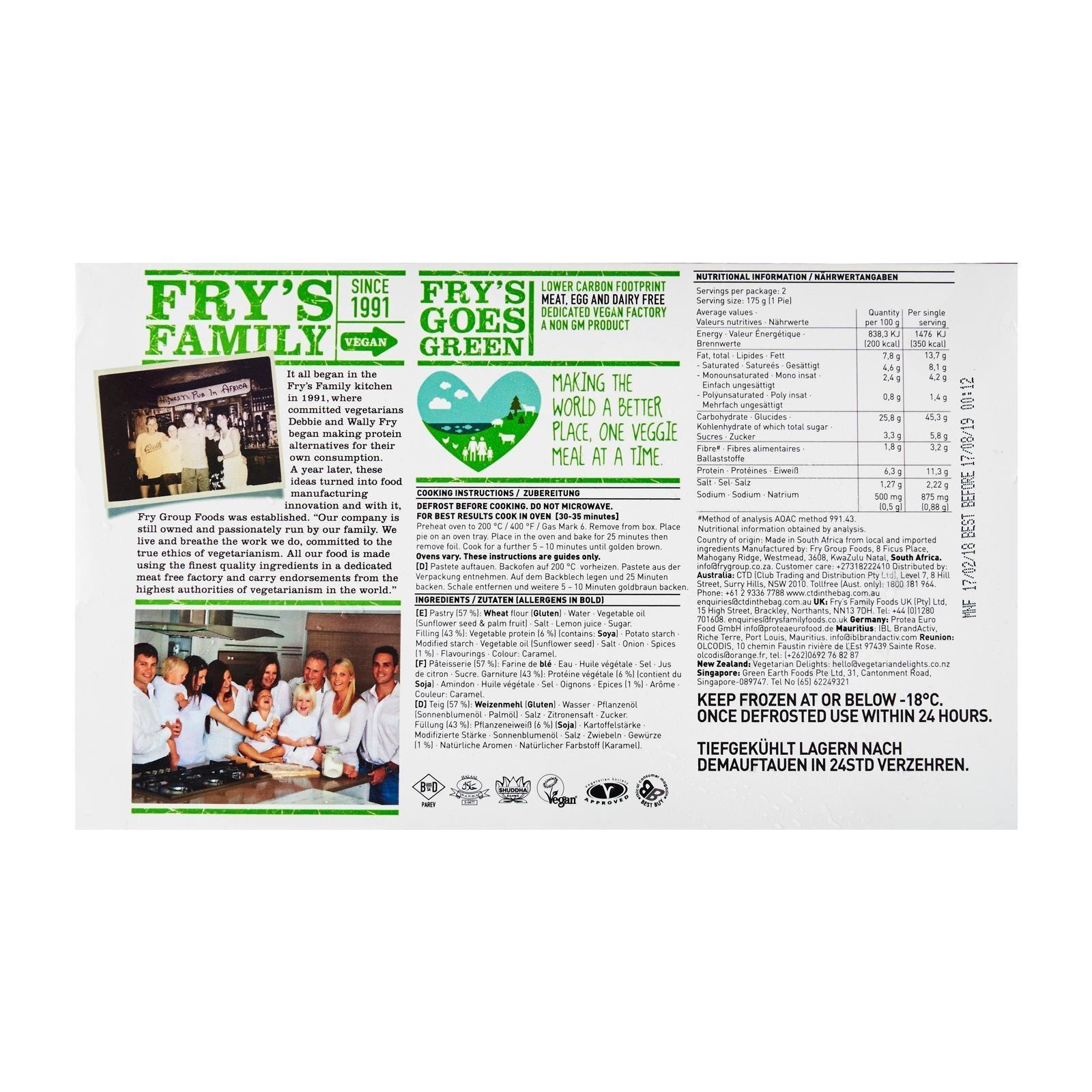 FRY'S Peeper Steak Pies | NTUC FairPrice