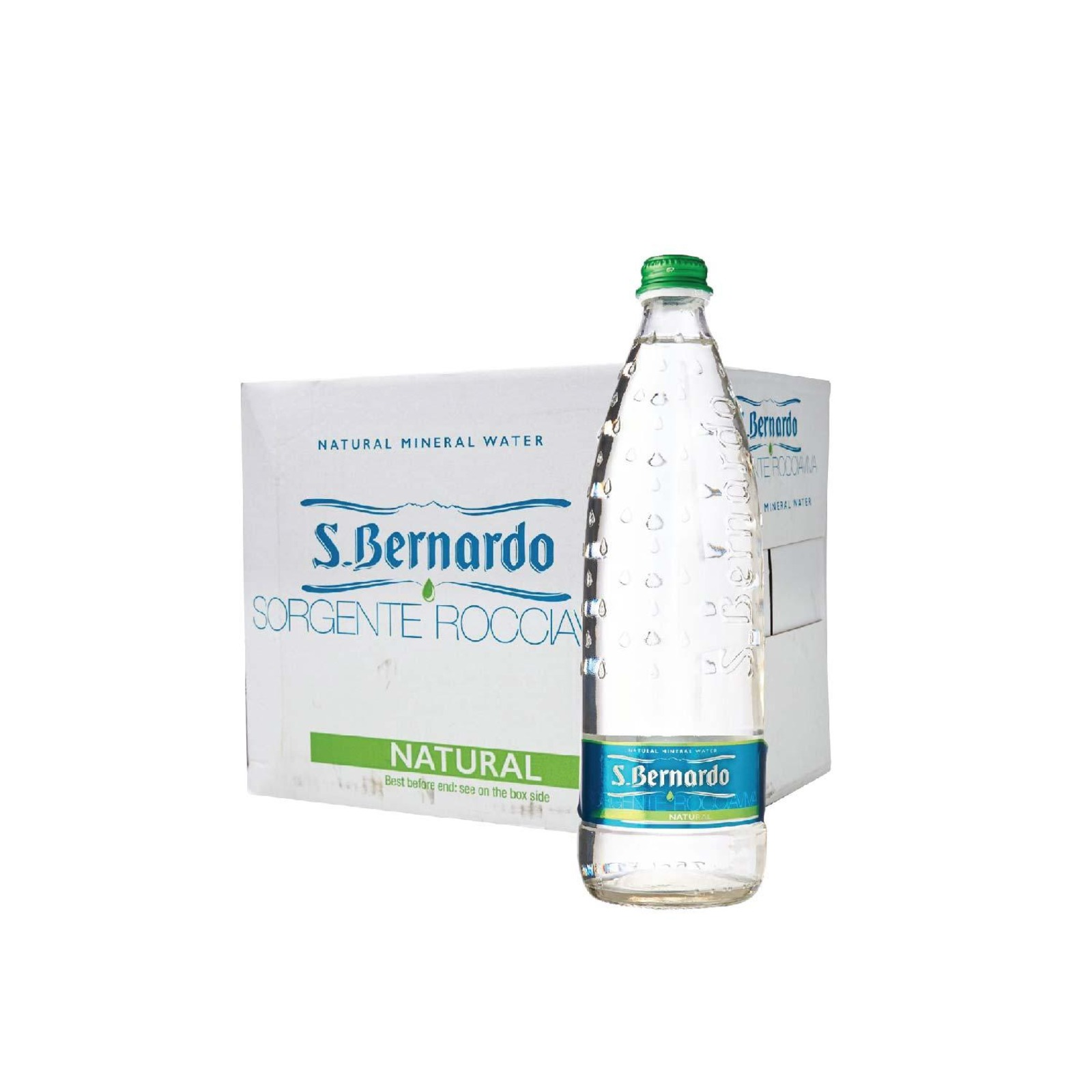 San Benedetto Natural Mineral Water Glass - Case