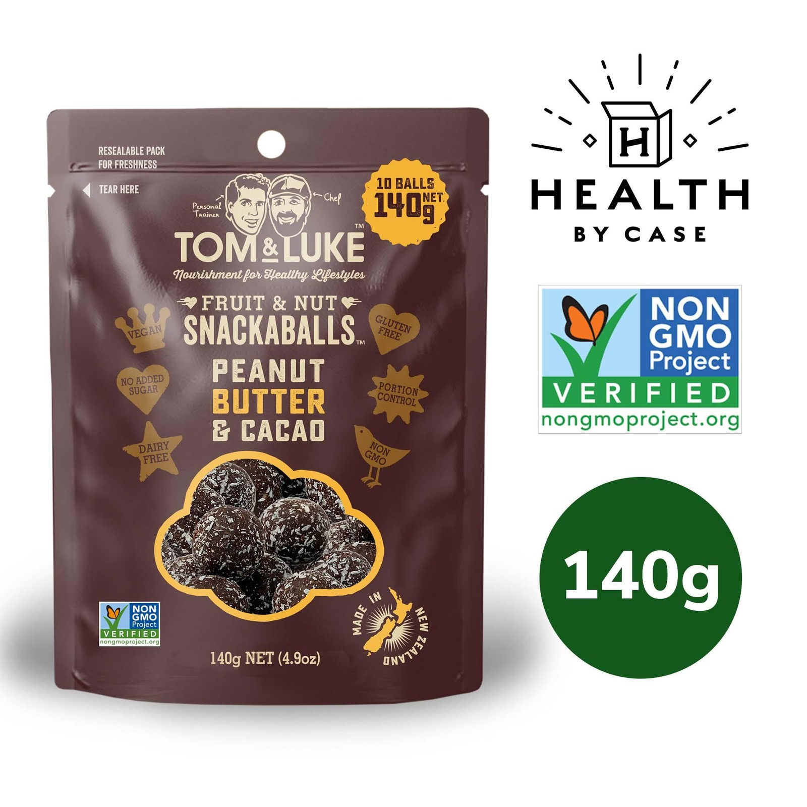 Tom & Luke Snackaball - Peanut Butter and Cacao