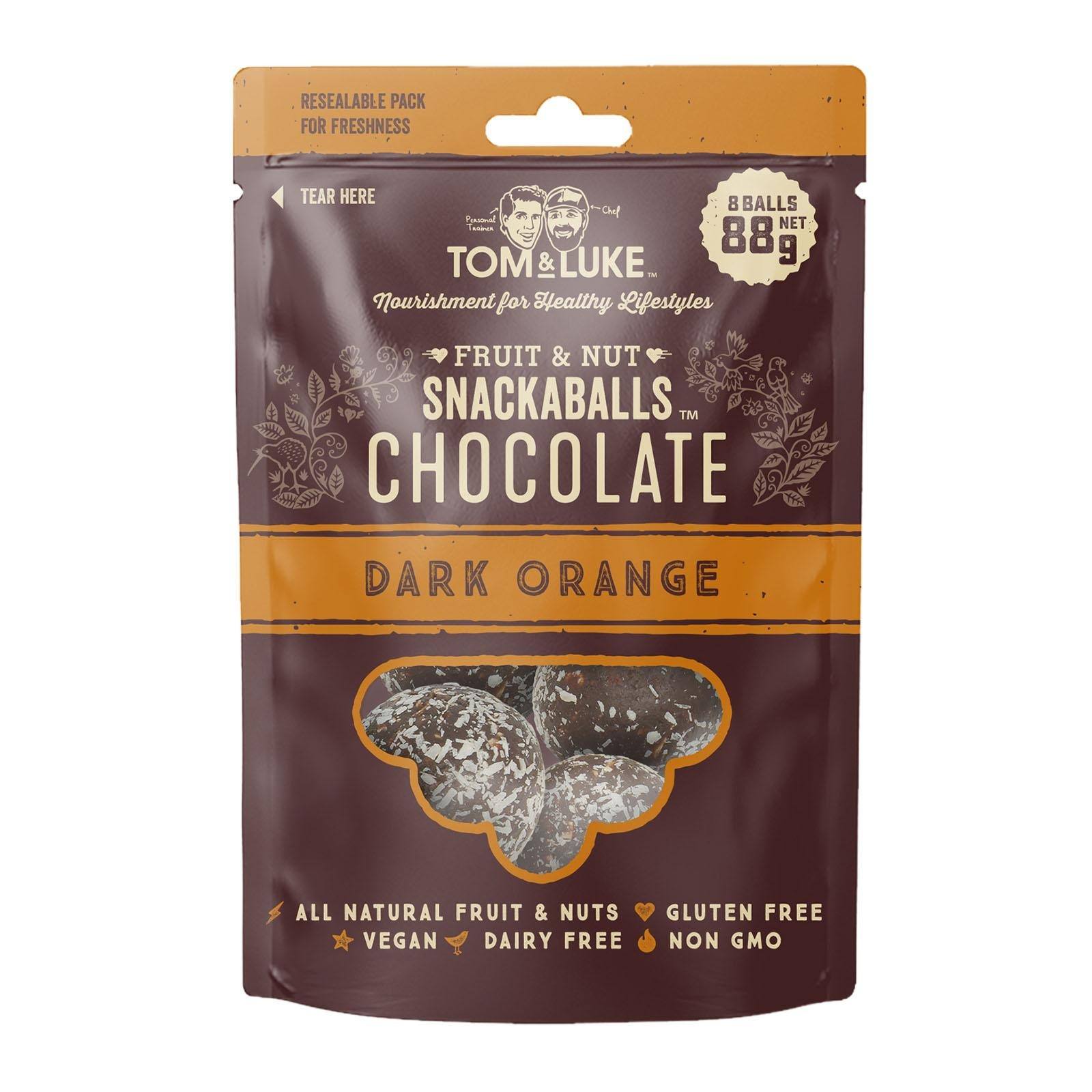 Tom & Luke Snackaball - Dark Chocolate Orange