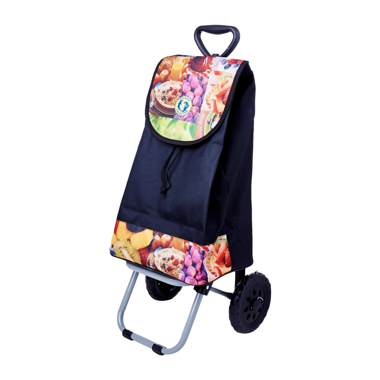 Dolphin Collection Market Trolley 47X31X21Cm - 30L (Fruits)
