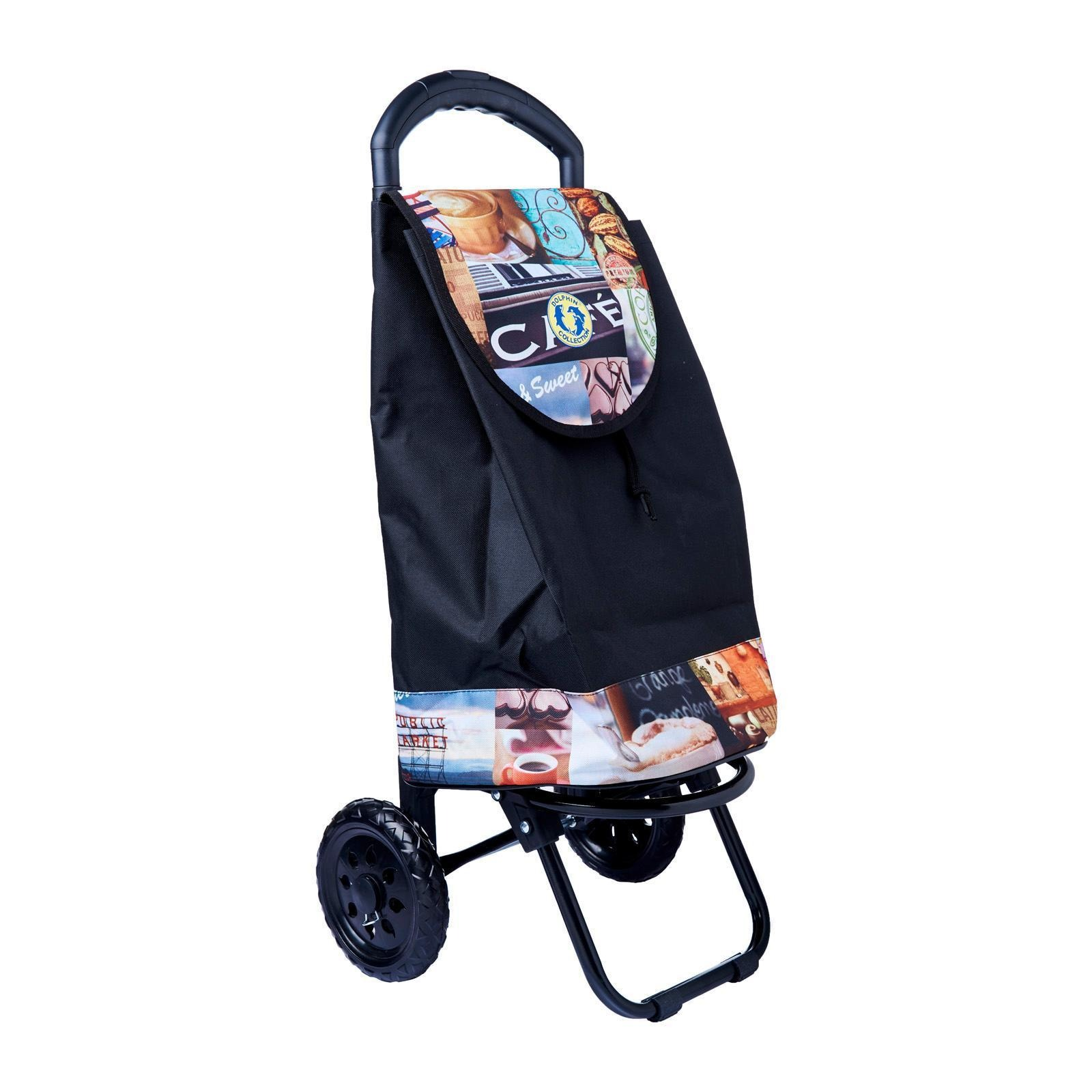 Dolphin Collection Market Trolley 47X28X26Cm - 34L (Coffee)