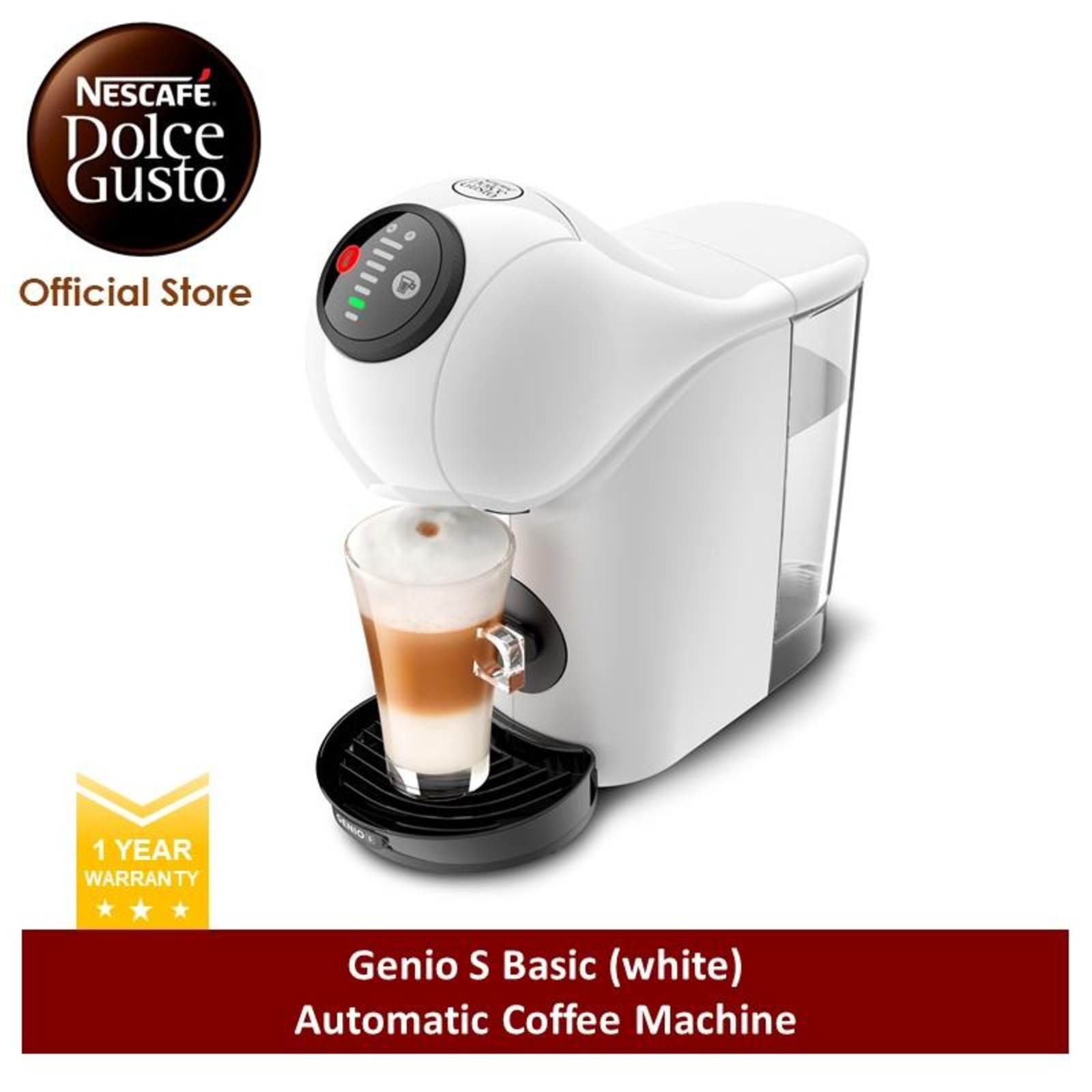 NESCAFE Dolce Gusto Genio S Basic Coffee Machine(W)