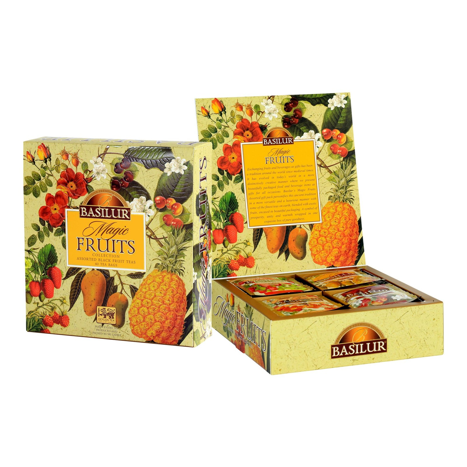 Basilur Magic Fruits Black Tea Assorted Sachets Gift Box