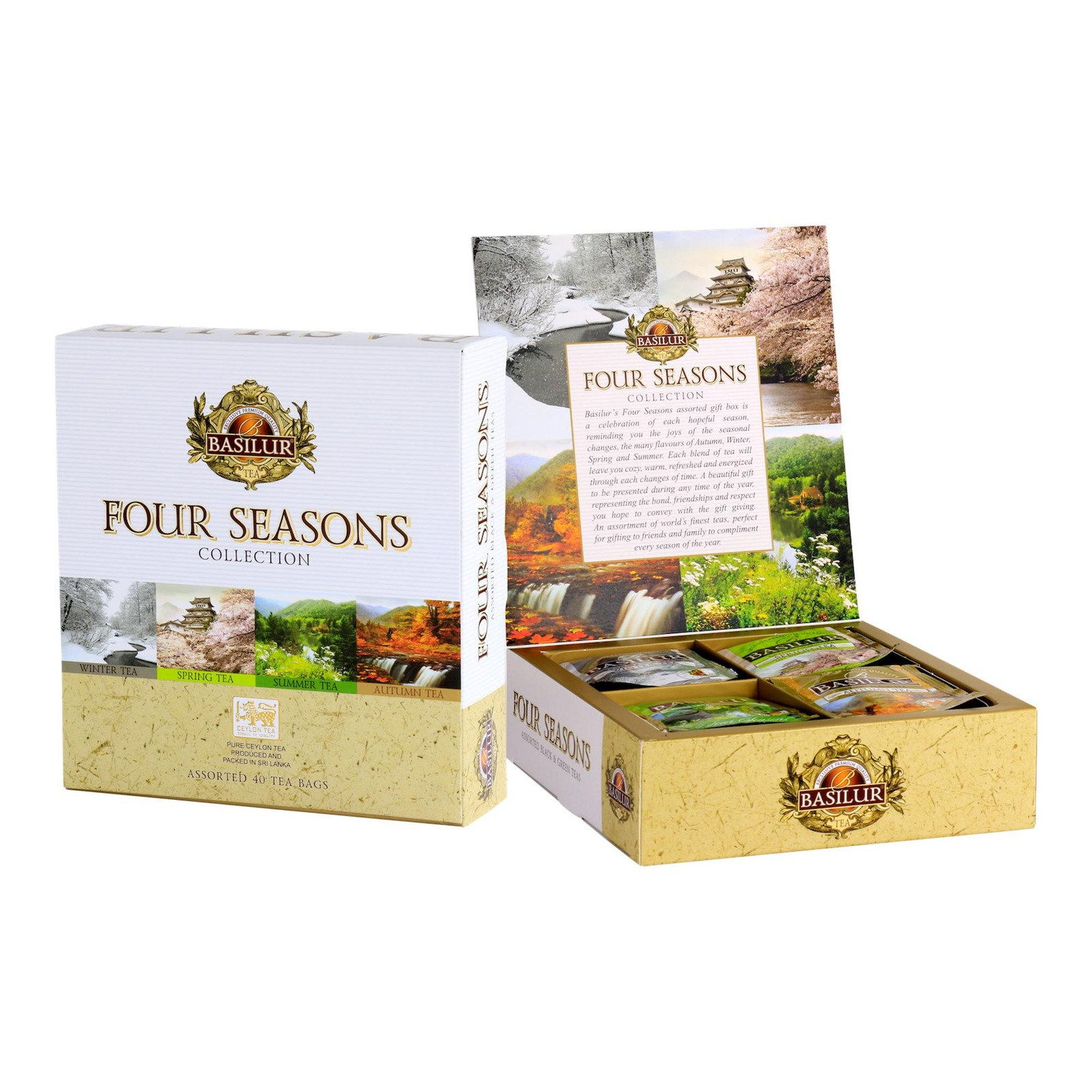 Basilur Four Seasons Assorted Tea Sachets Gift Box