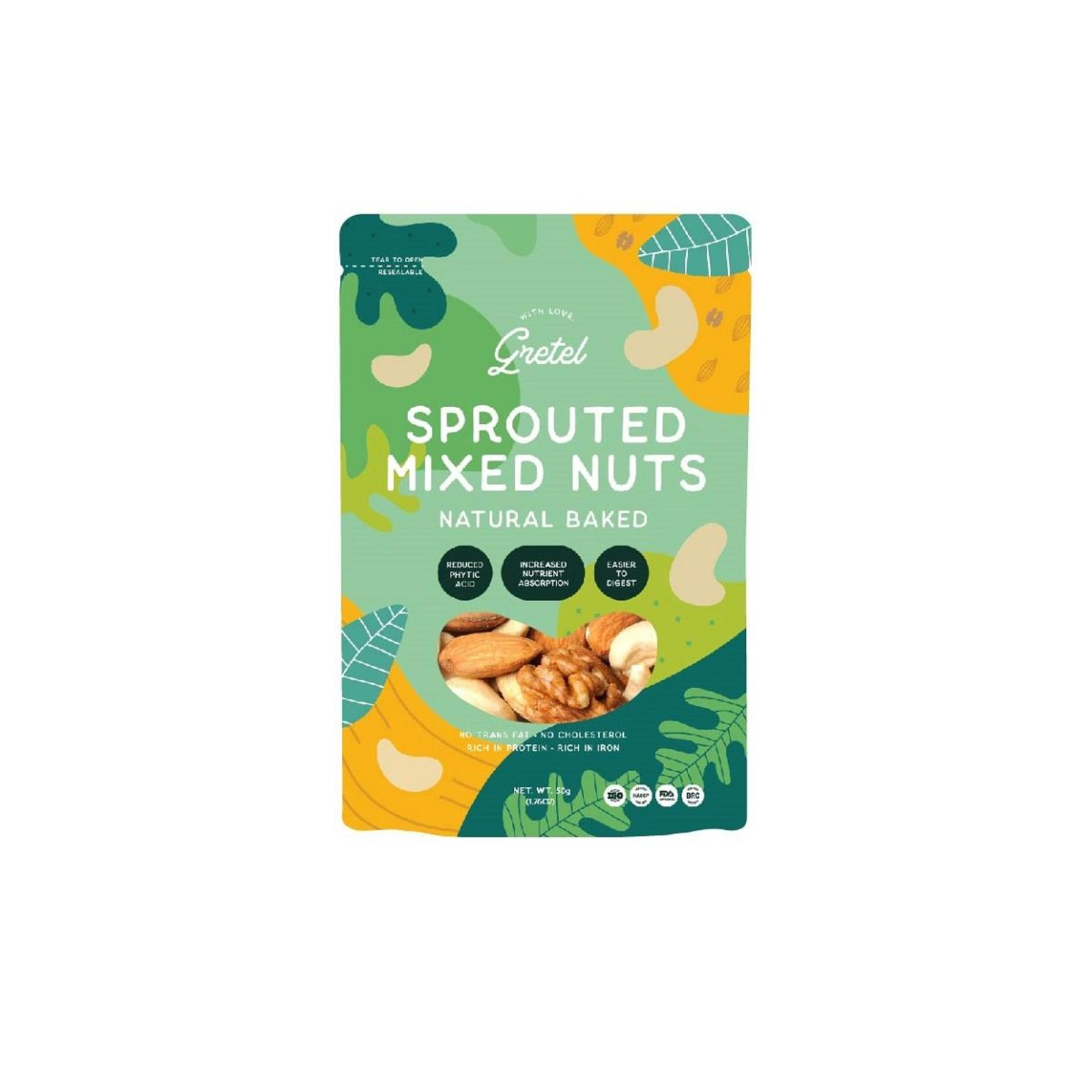 Gretel Sprouted Mixed Nuts (Natural)