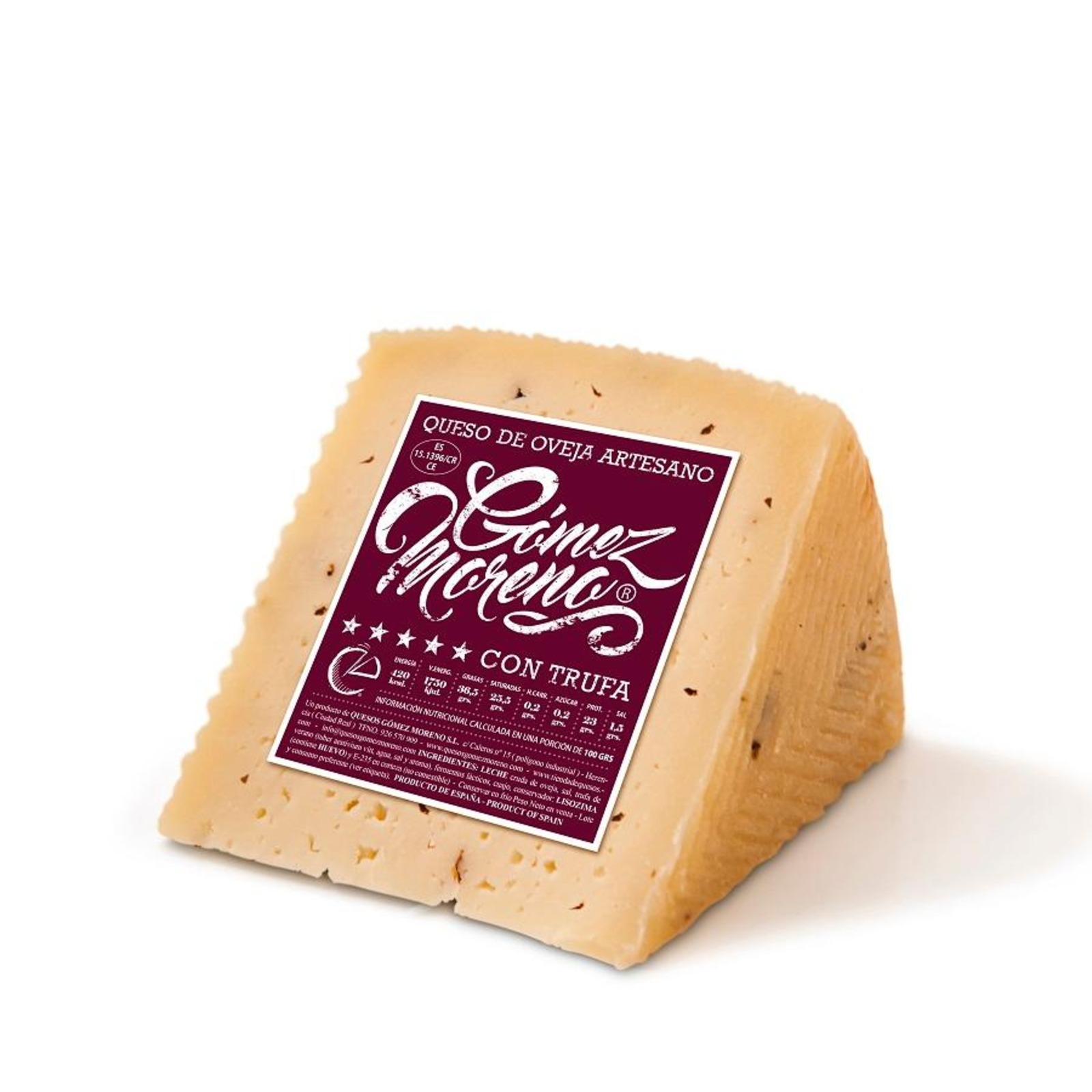 Quesos Gomez Moreno Truffle Manchego Style Spanish Cheese- By TANINOS