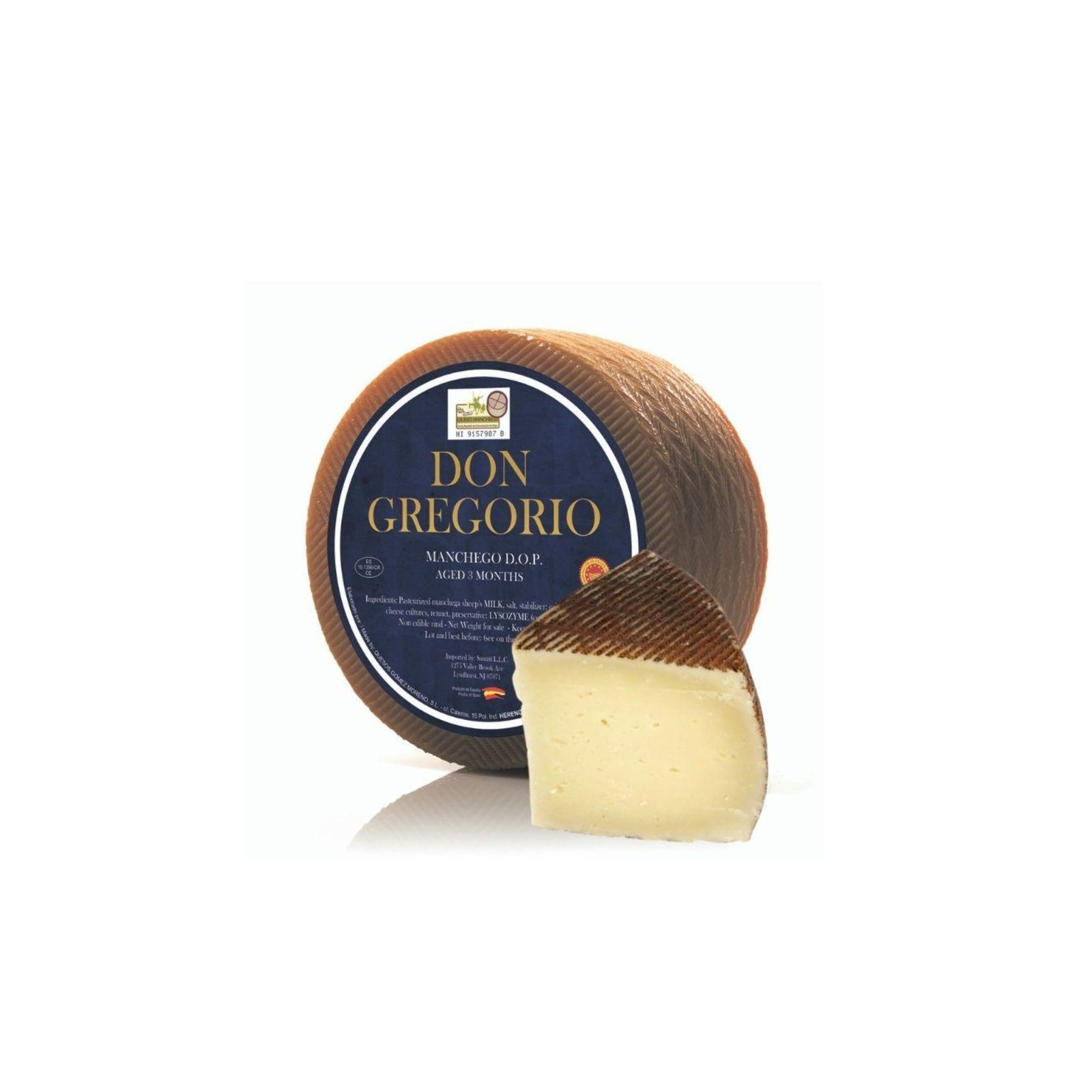 Quesos Gomez Moreno Manchego Semi Curado Pasteurised Spanish Cheese- By TANINOS