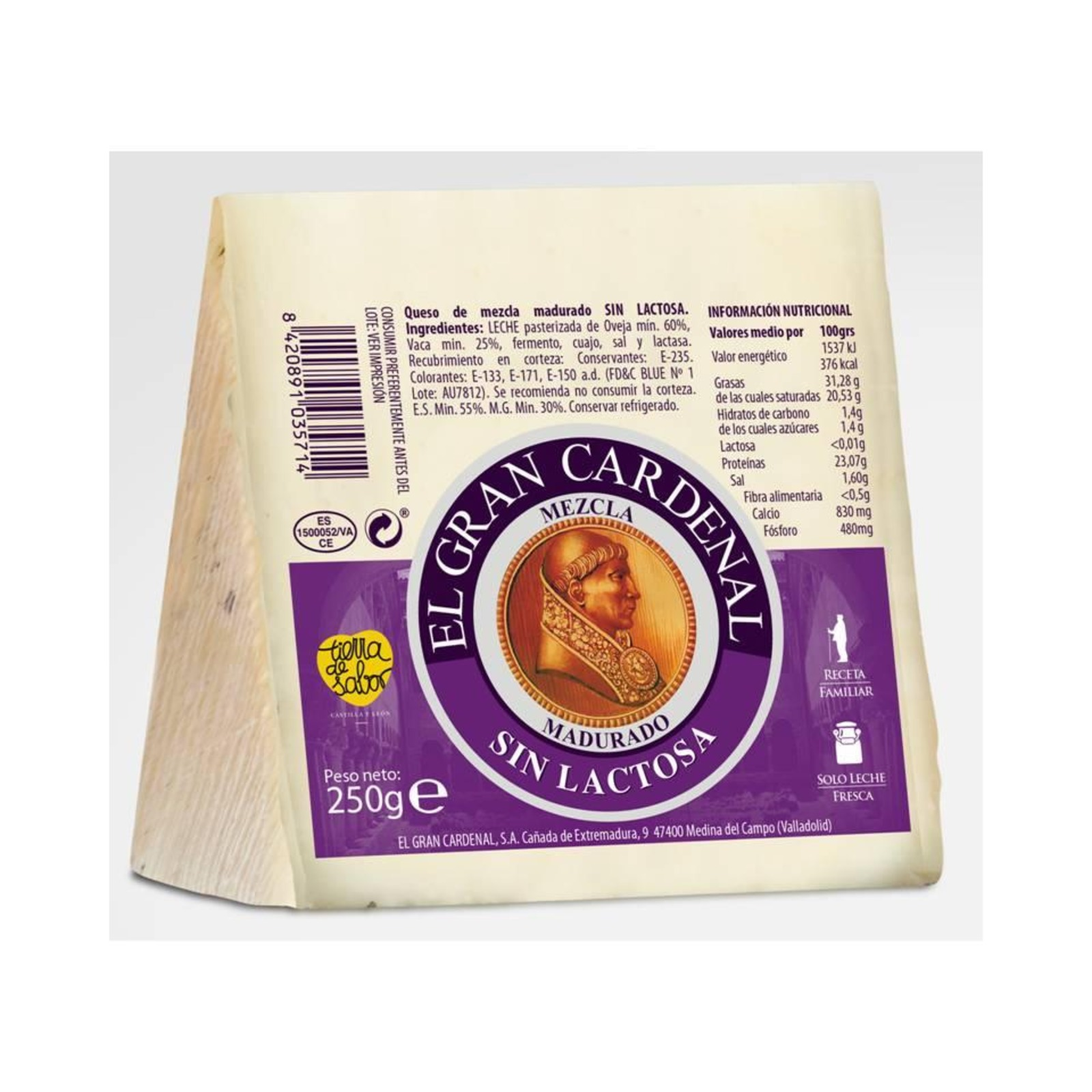 El Gran Cardenal Lactose free Spanish Cheese (blended milk)