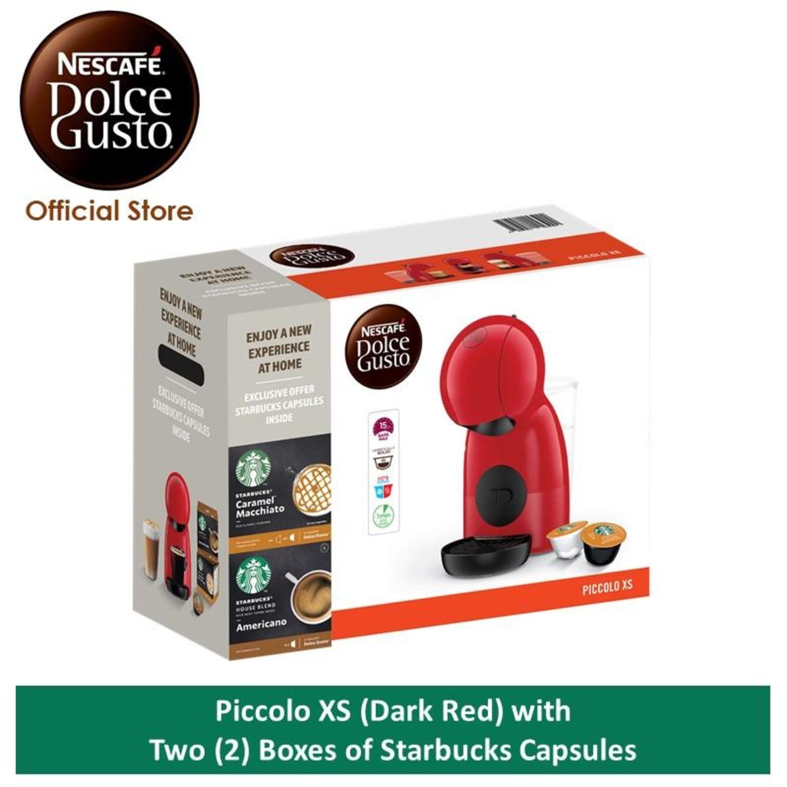 NESCAFE Dolce Gusto PiccoloXS w 2 Starbucks Coffee Capsule(DR