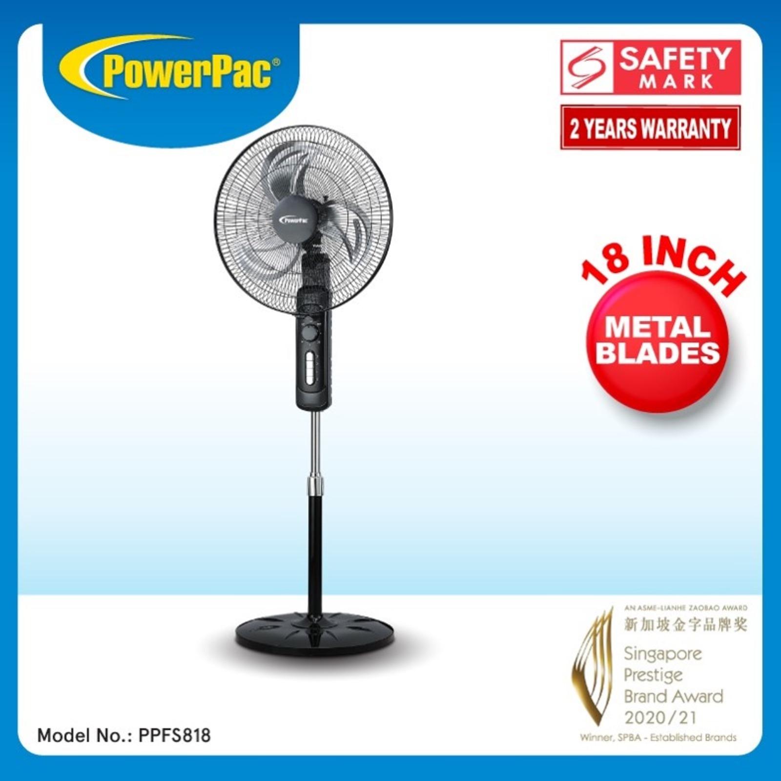 PowerPac (PPFS818) 18 Inch Stand Fan