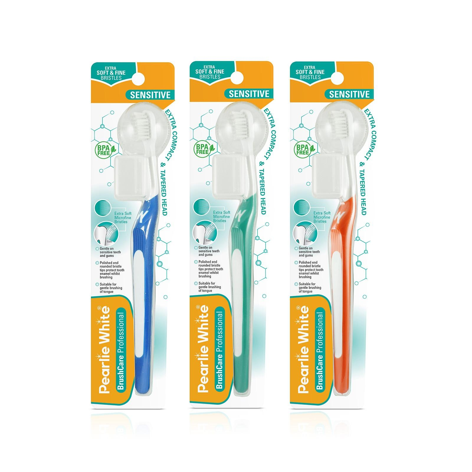 Pearlie White Pro Sensitive Extra Soft Toothbrush Triple Pack