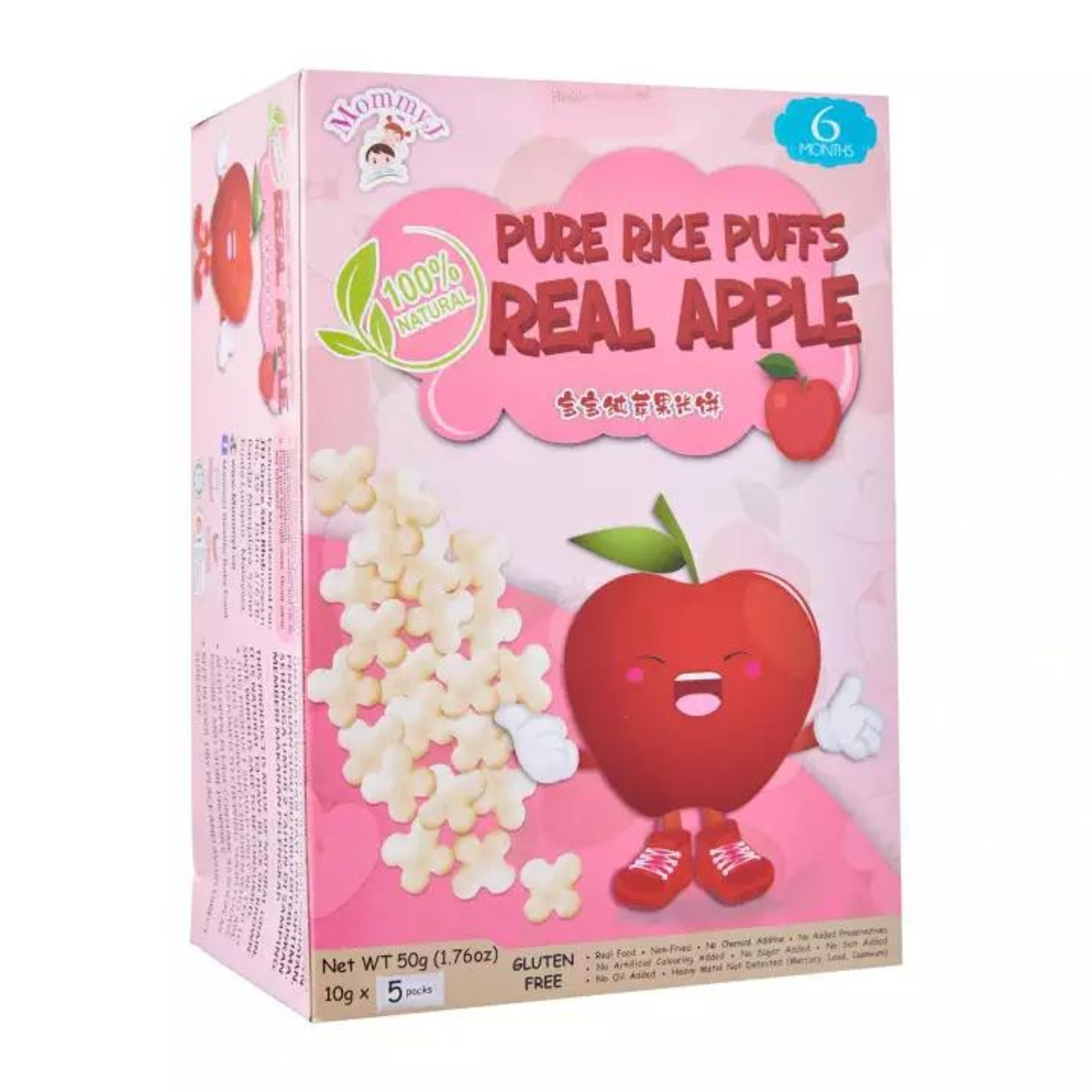 MommyJ Real Apple Pure Rice Puff