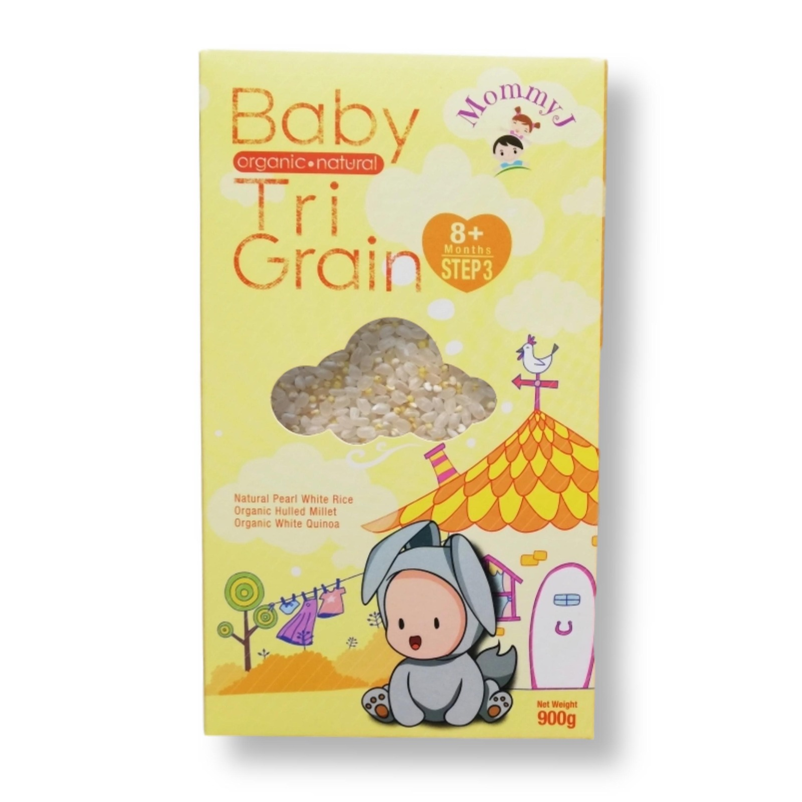 MommyJ Step 3 Organic Natural Tri-Grain