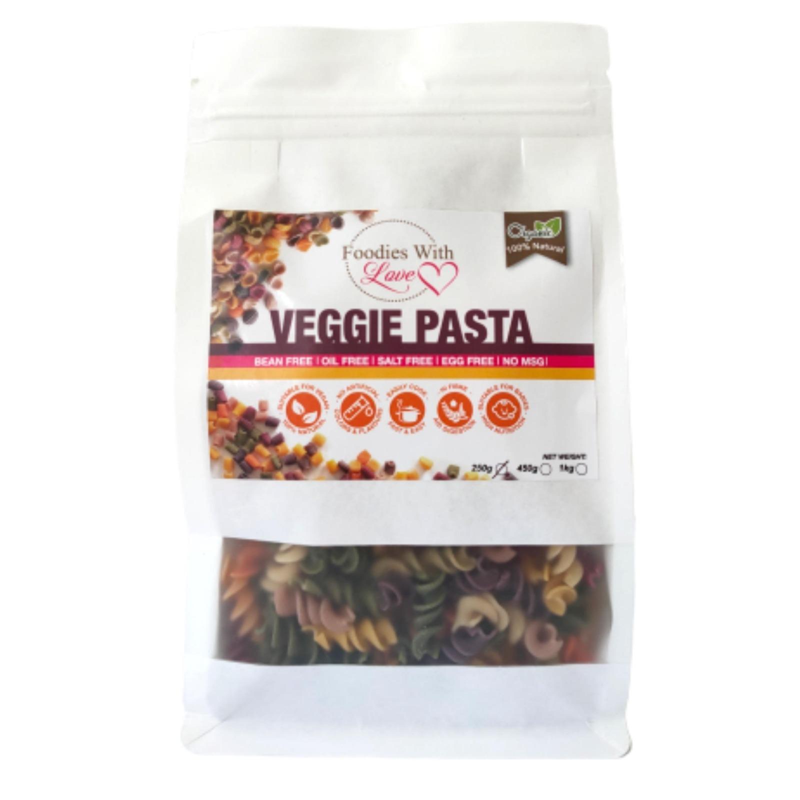 Foodies With Love Organic Veggie Pasta (Spiral)