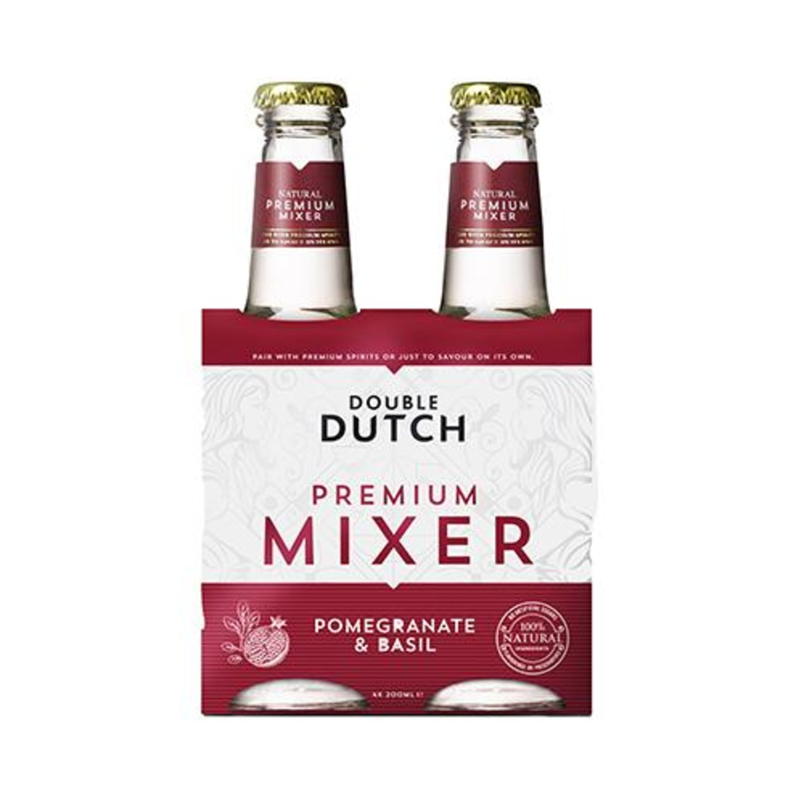 Double Dutch 4pack Pomegranate & Basil - DD Tonic Water