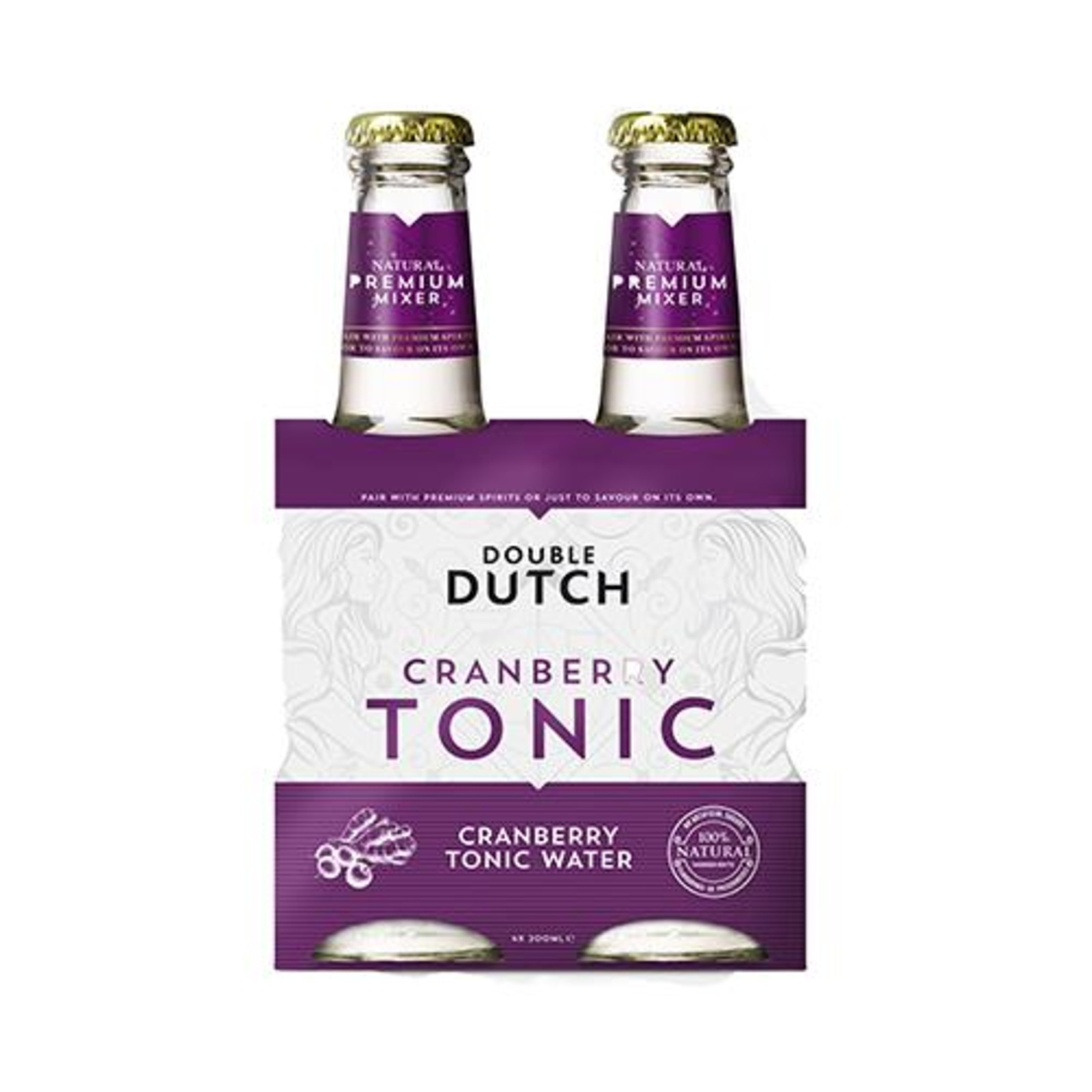 Double Dutch 4pack Cranberry - DD Tonic Water