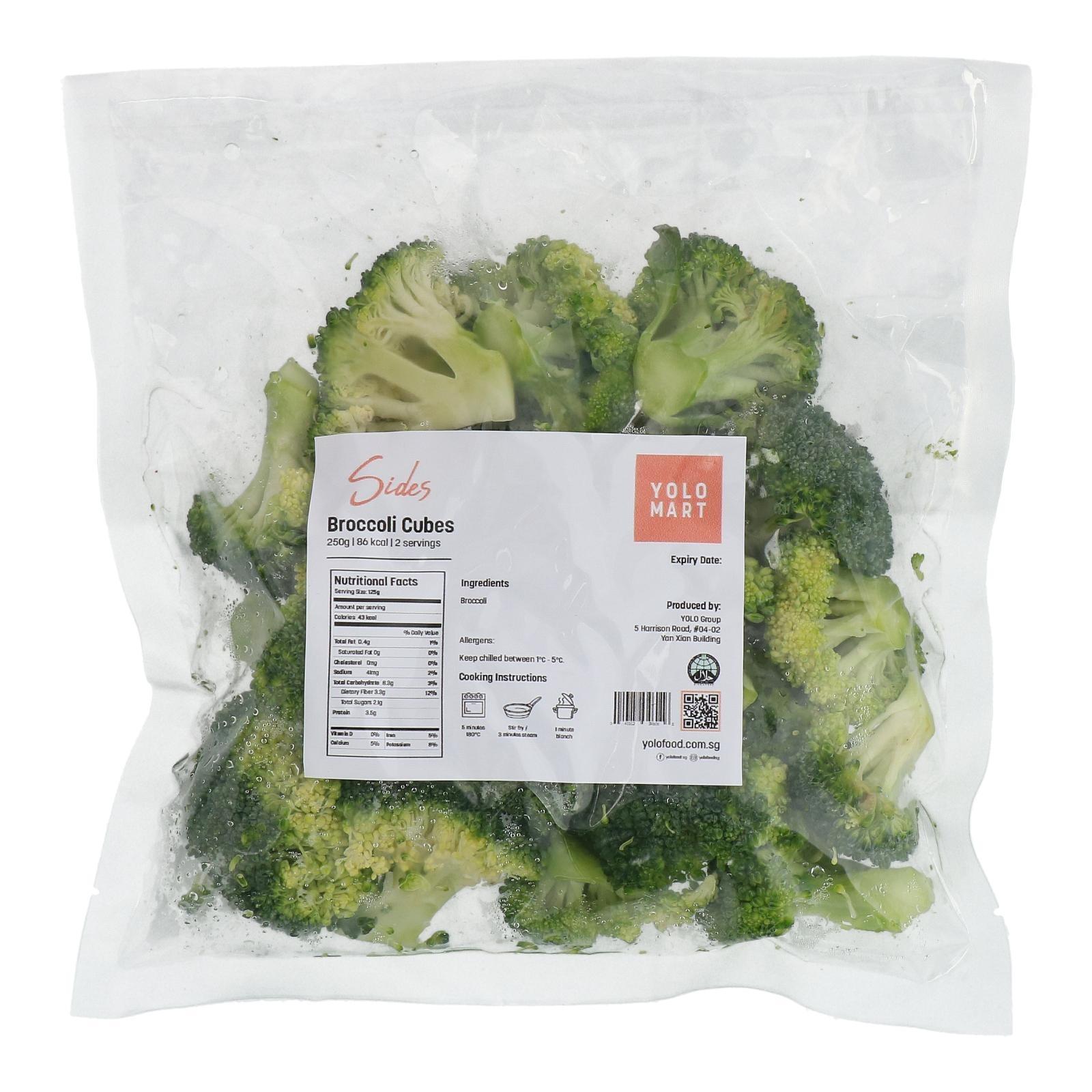 YOLO Healthy Food Broccoli Cubes 250 G