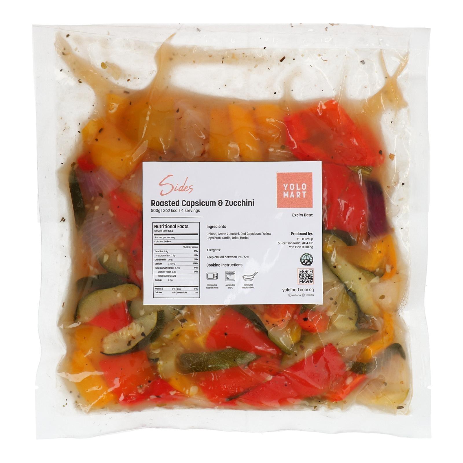 YOLO Healthy Food Roasted Herb Capsicum & Zucchini 500 G