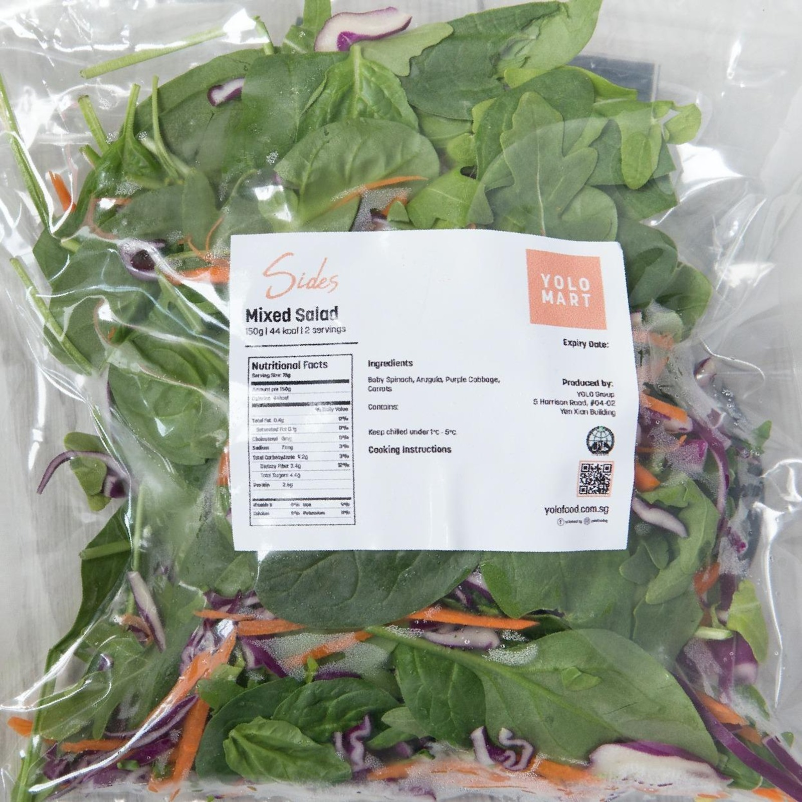YOLO Healthy Food Mixed Salad  150 G