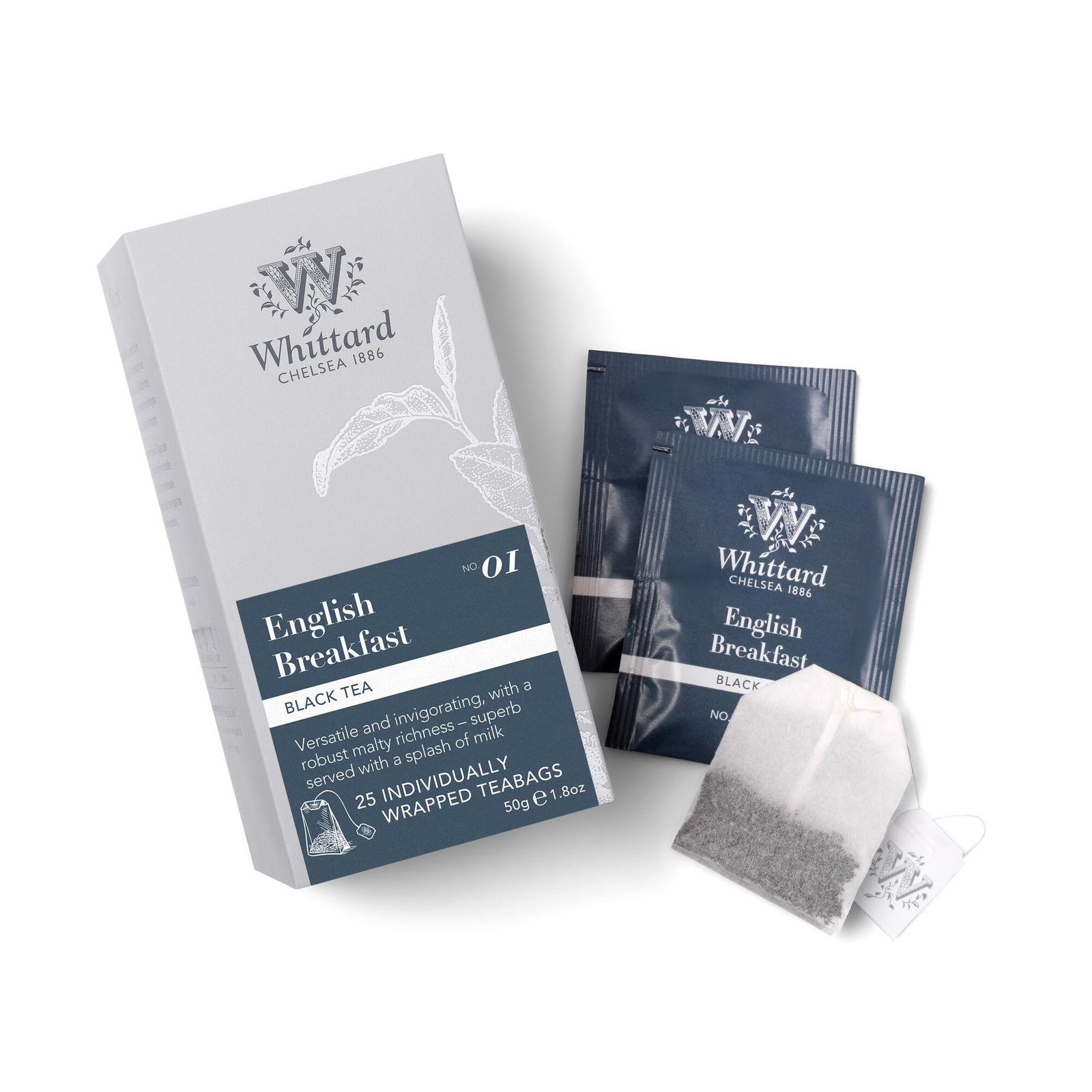 Whittard English Breakfast 25 Individually Wrapped Teabags