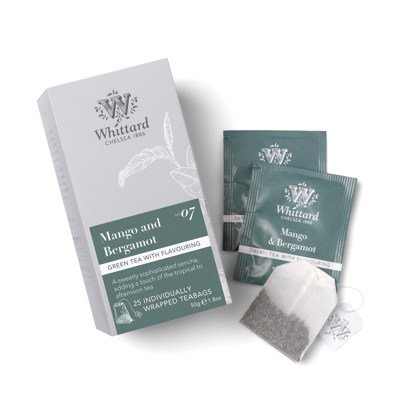 Whittard Mango and Bergamot 25 Individually Wrapped Teabags