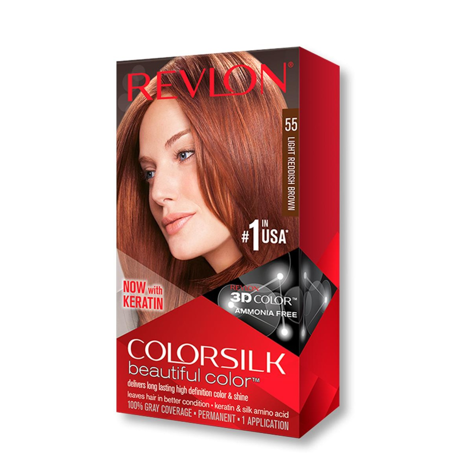 Revlon Colorsilk 3D Hair Color - 55 Light Reddish Brown