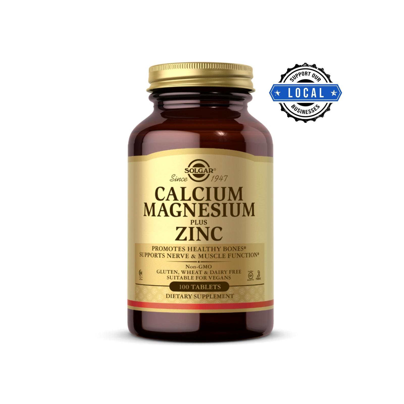 Solgar Calcium Magnesium Plus Zinc, 100 Tabs