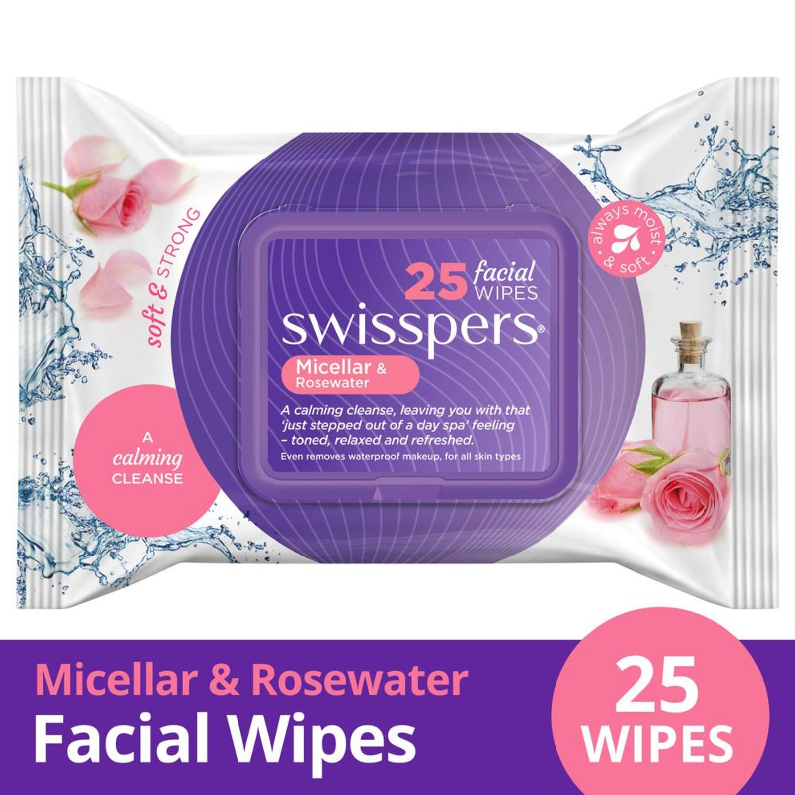 SWISSPERS Micellar & Rosewater Facial Cleansing Wipes