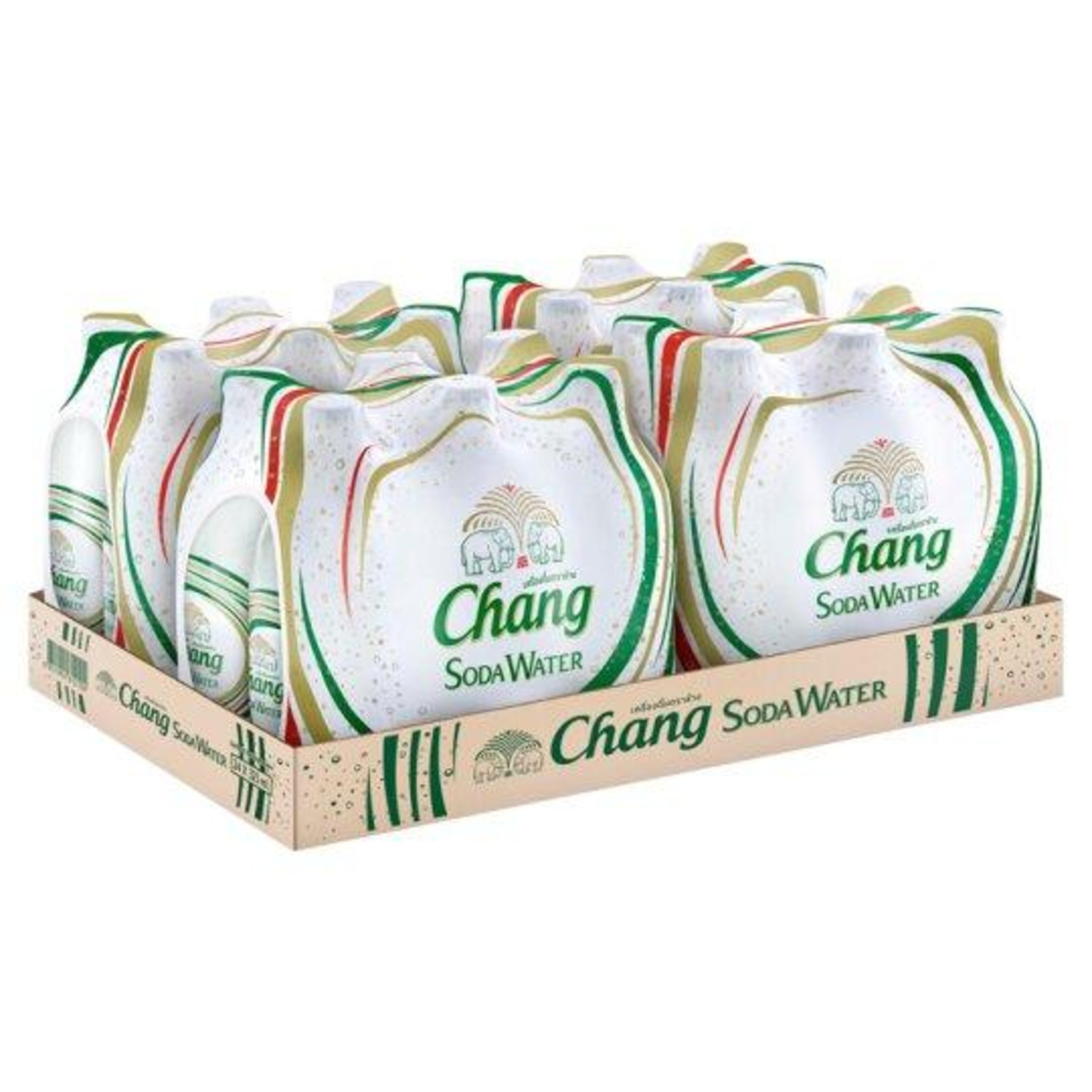 Chang Soda Water Glass Bottles x 24 bottles