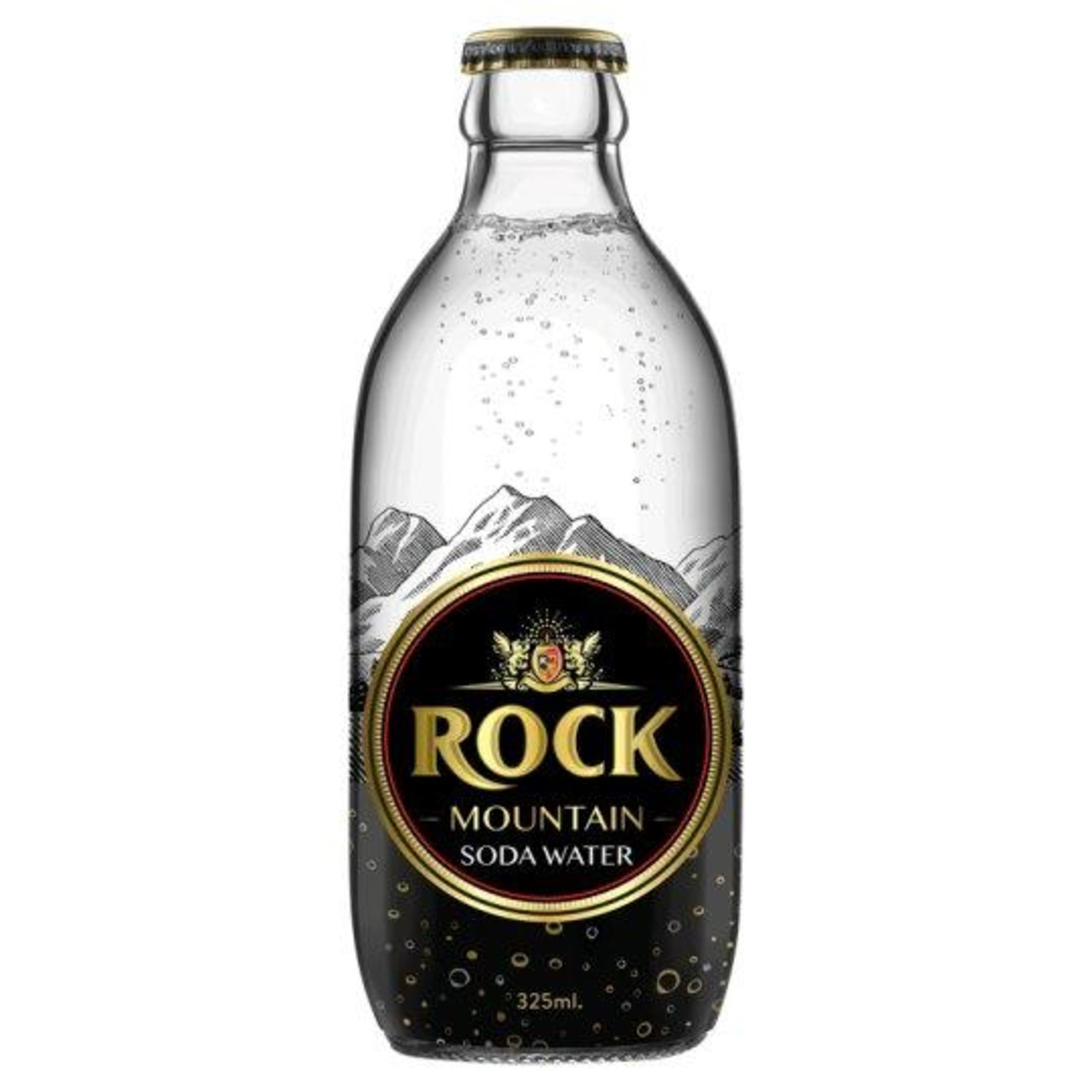 Rock Mountain Soda Water Glass Bottles x 24 bottles
