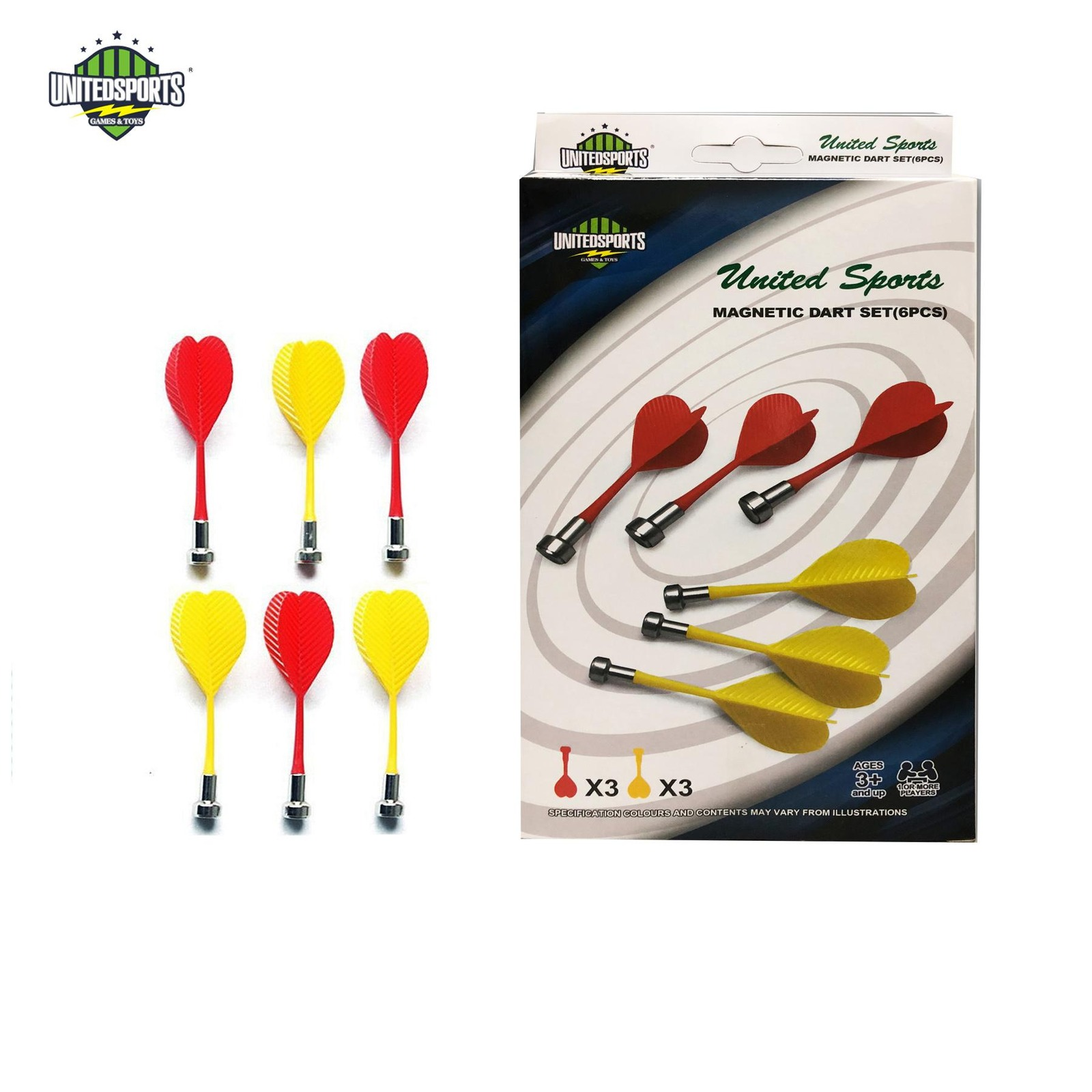United Sports Magnetic Dart, 6 pcs in a pack